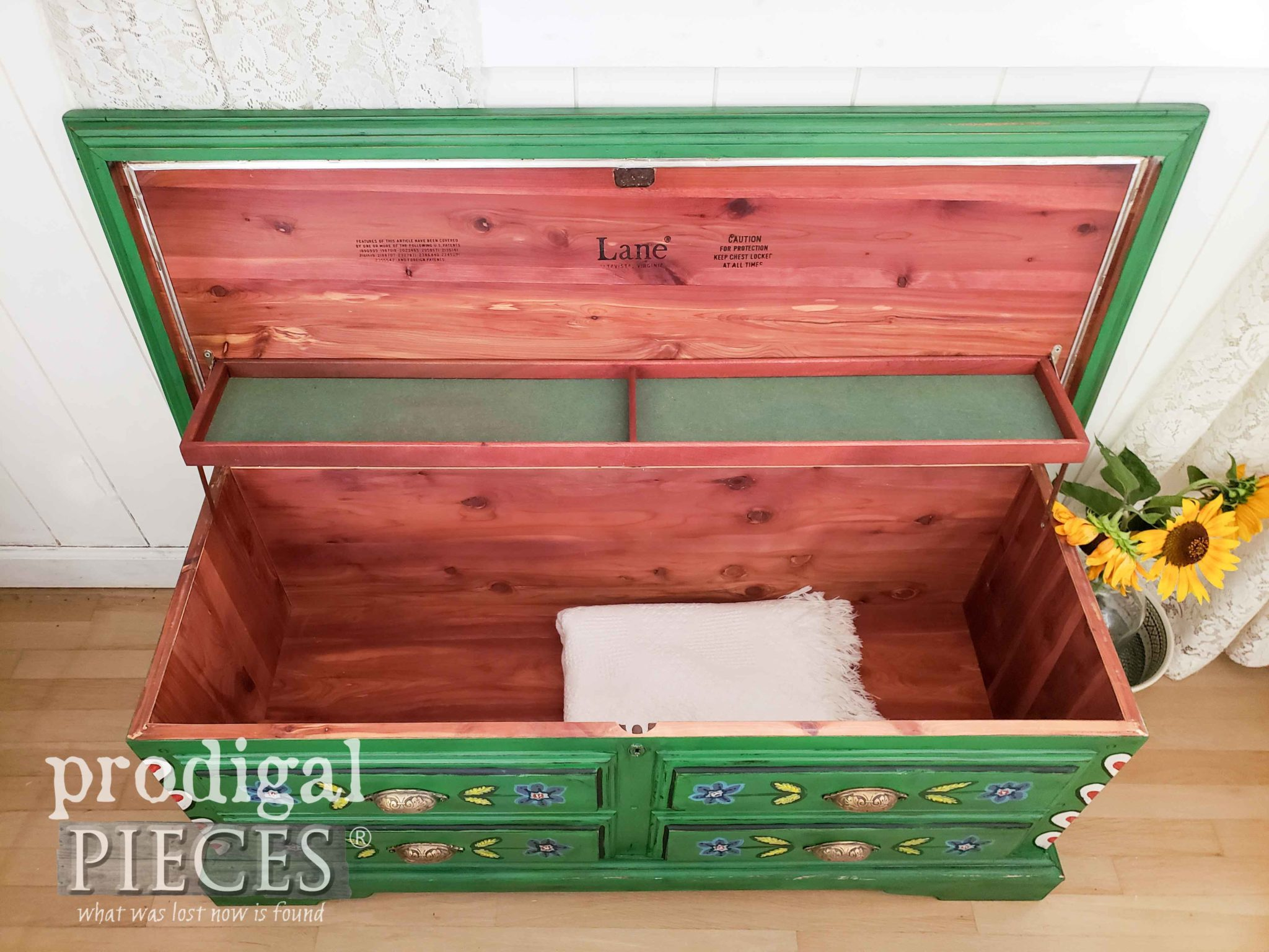 Vintage Lane Cedar Lined Blanket Chest by Larissa of Prodigal Pieces | prodigalpieces.com