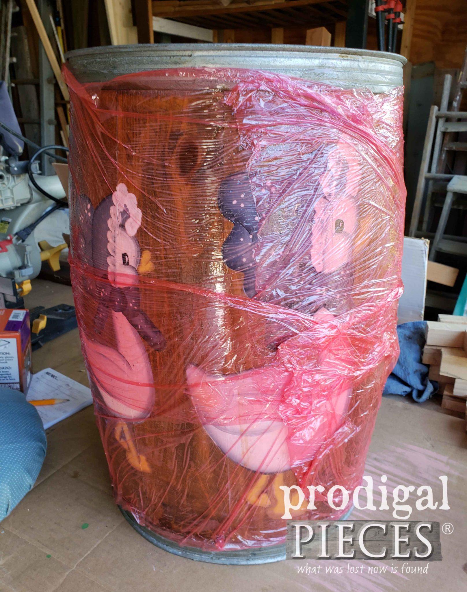 Cellophane Wrapped Barrel with Citristrip | prodigalpieces.com
