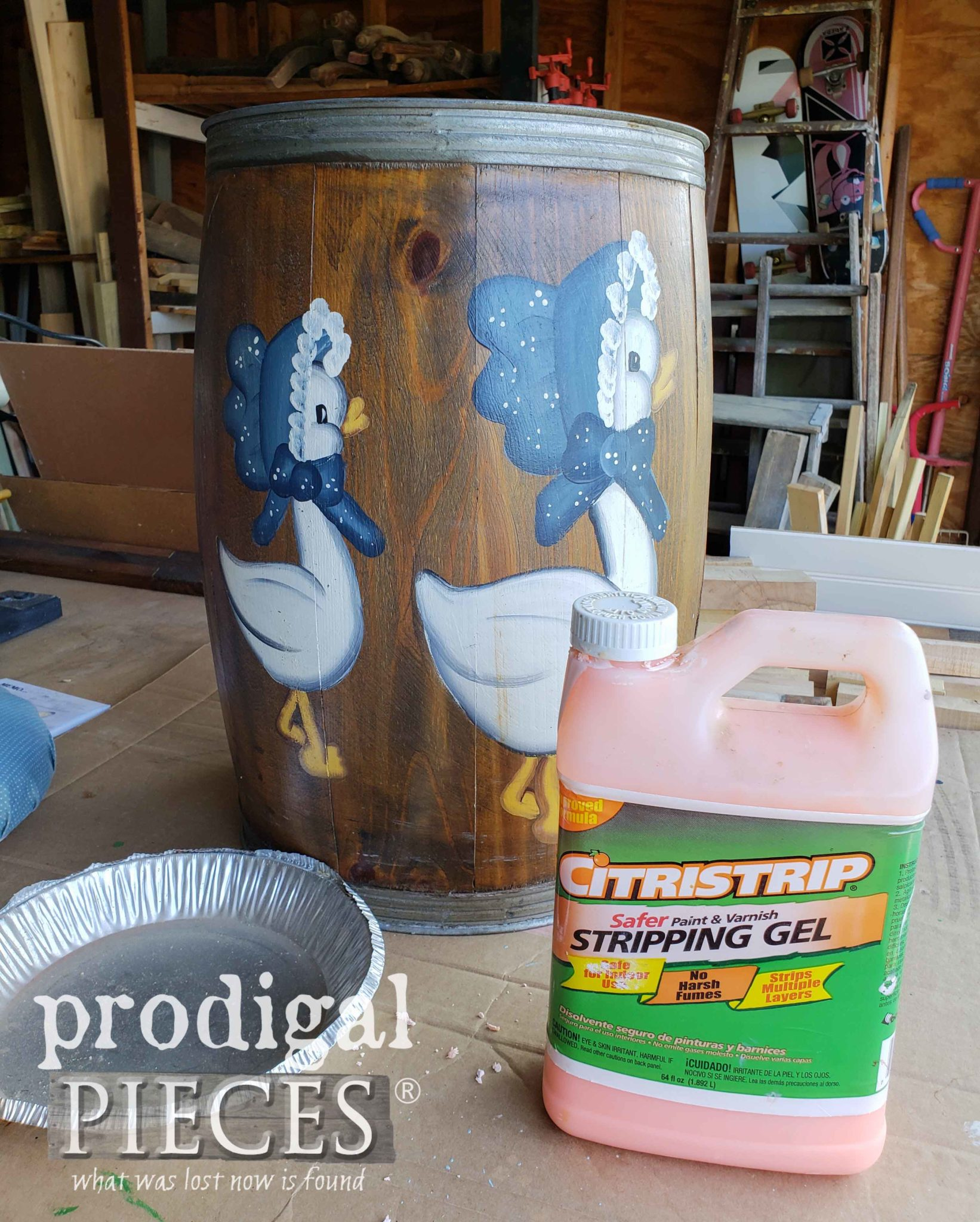 Using CitriStrip to Remove Old Finish and Paint | prodigalpieces.com