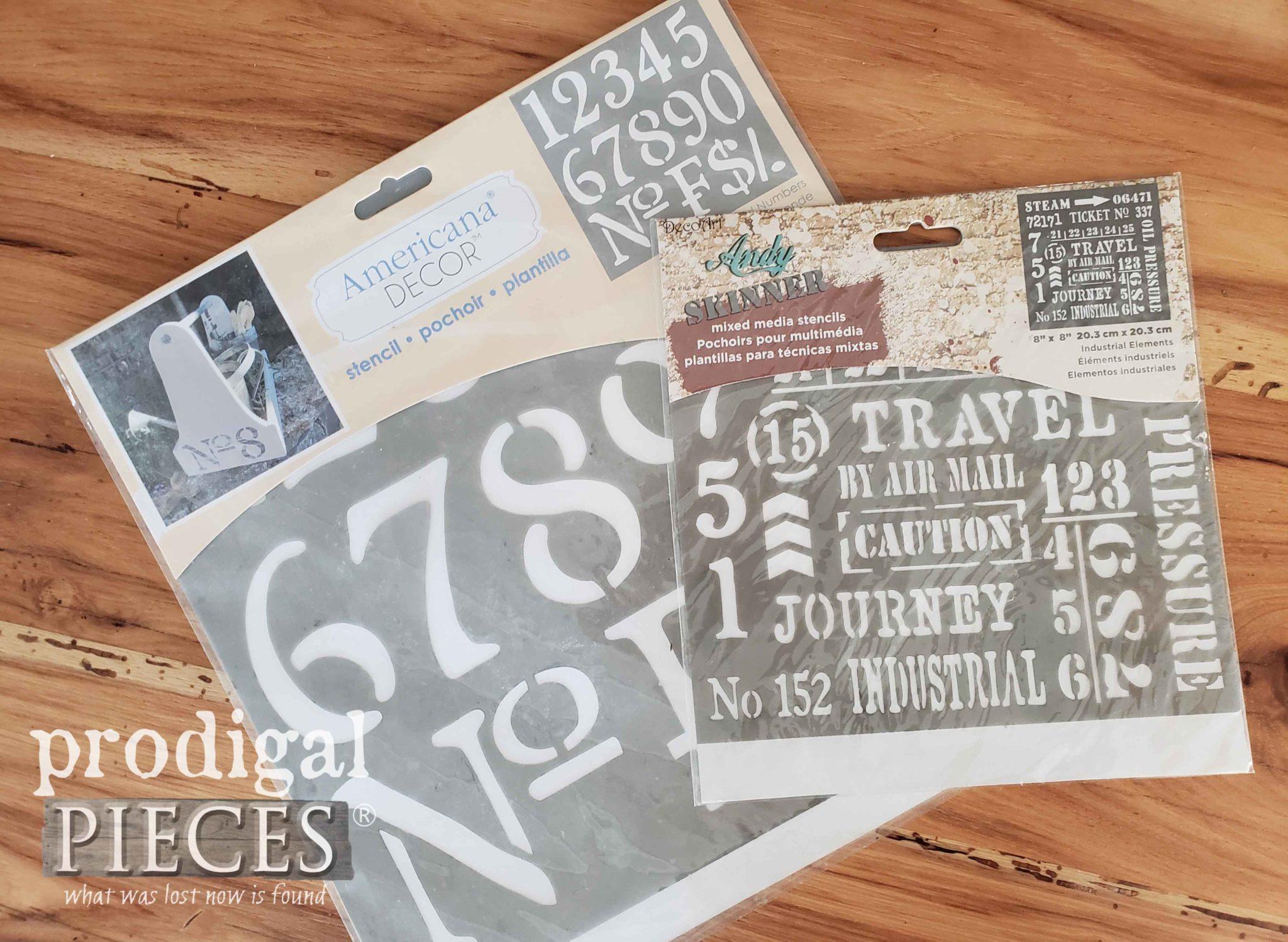 DecoArt Stencils for Farmhouse Decor by Prodigal Pieces | prodigalpieces.com