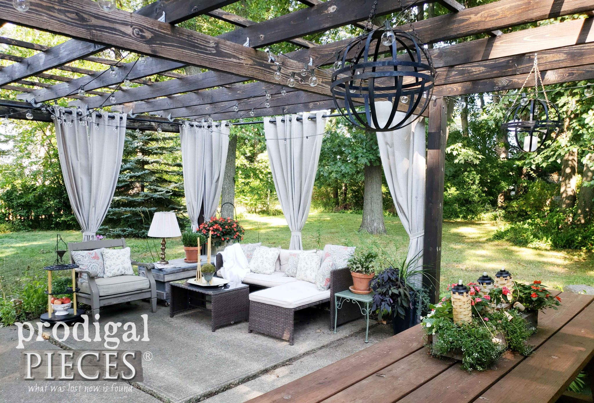 DIY Patio Pergola Design by Larissa of Prodigal Pieces | prodigalpieces.com