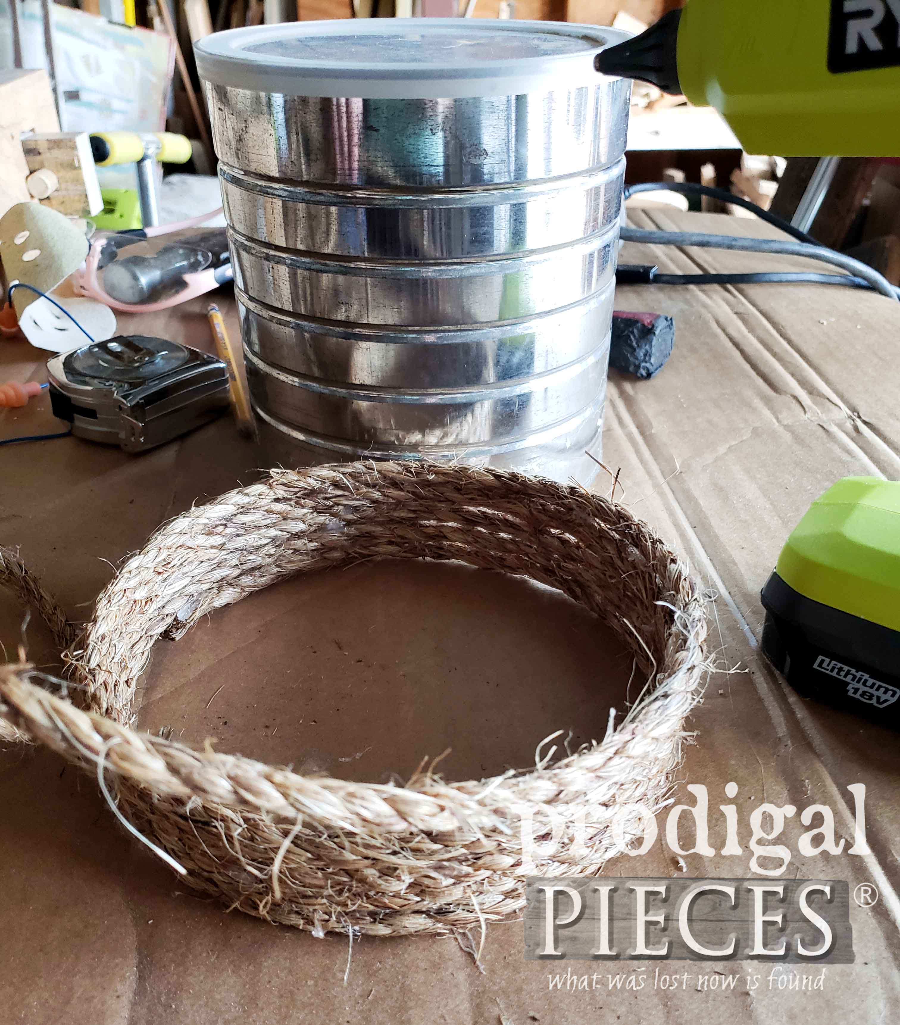 How to Make a Rope DIY Bee Skep with Tutorial by Larissa of Prodigal Pieces | prodigalpieces.com