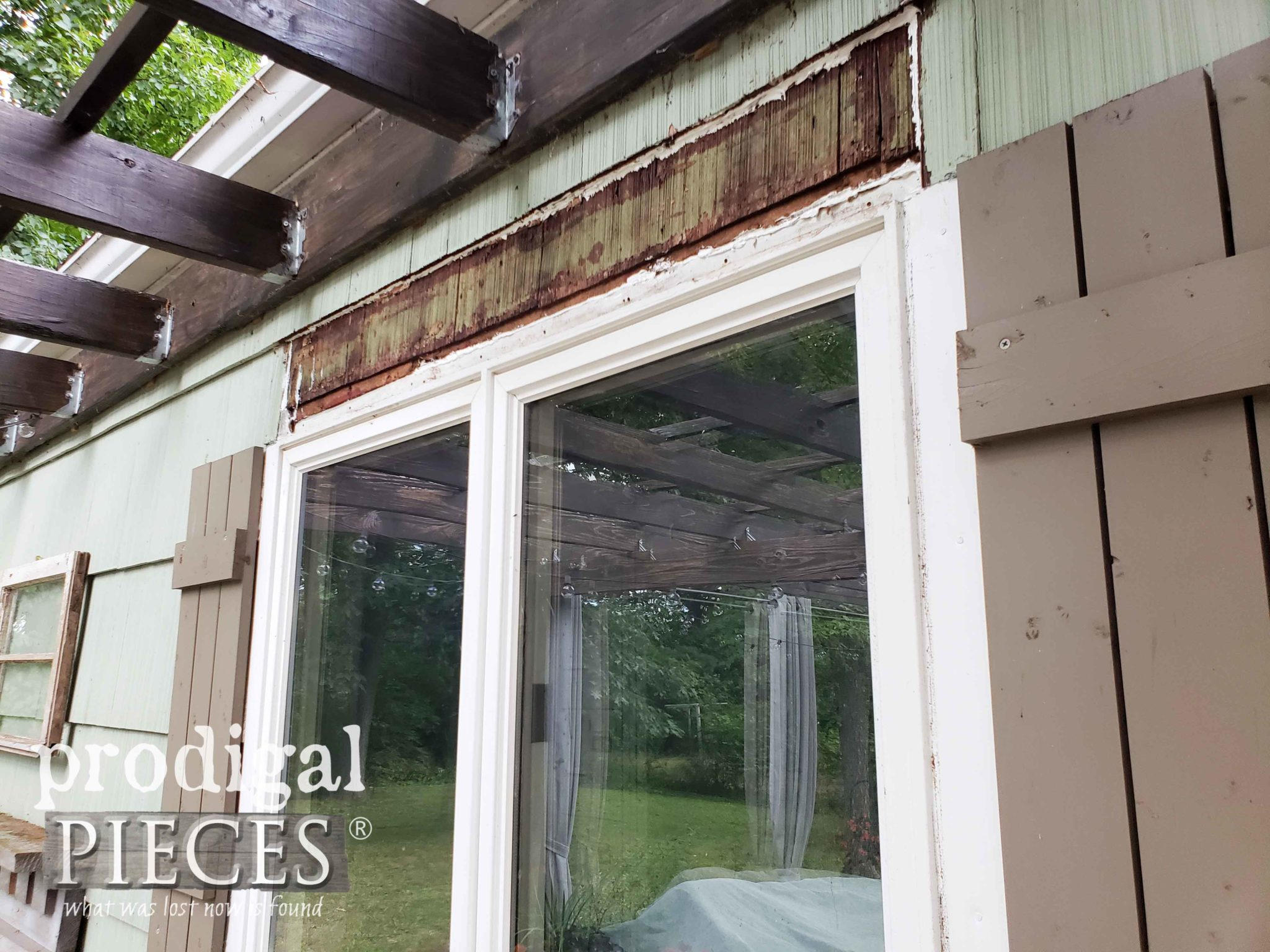 Exposed Siding with Window Repair by Prodigal Pieces | prodigalpieces.com