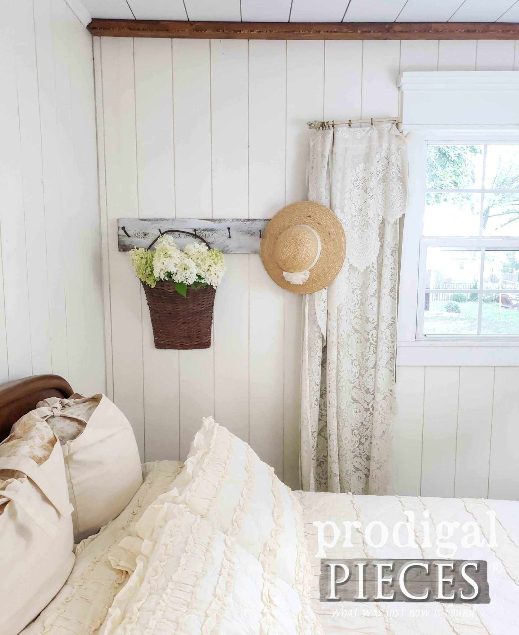 Farmhouse Bedroom with Simple Decor and Soft Design by Prodigal Pieces | prodigalpieces.com