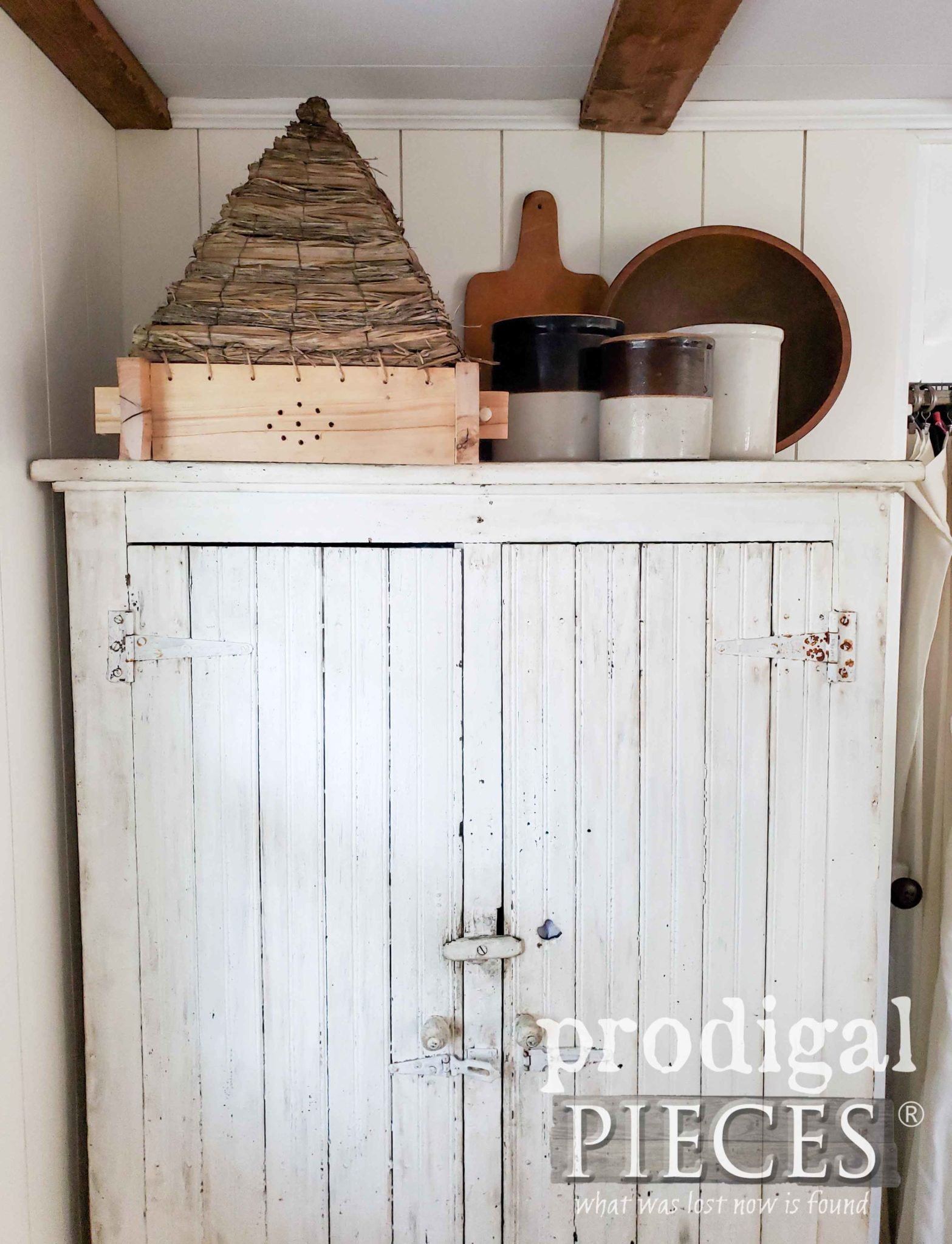 Farmhouse Bee Skep for Rustic Home Decor by Larissa of Prodigal Pieces | prodigalpieces.com