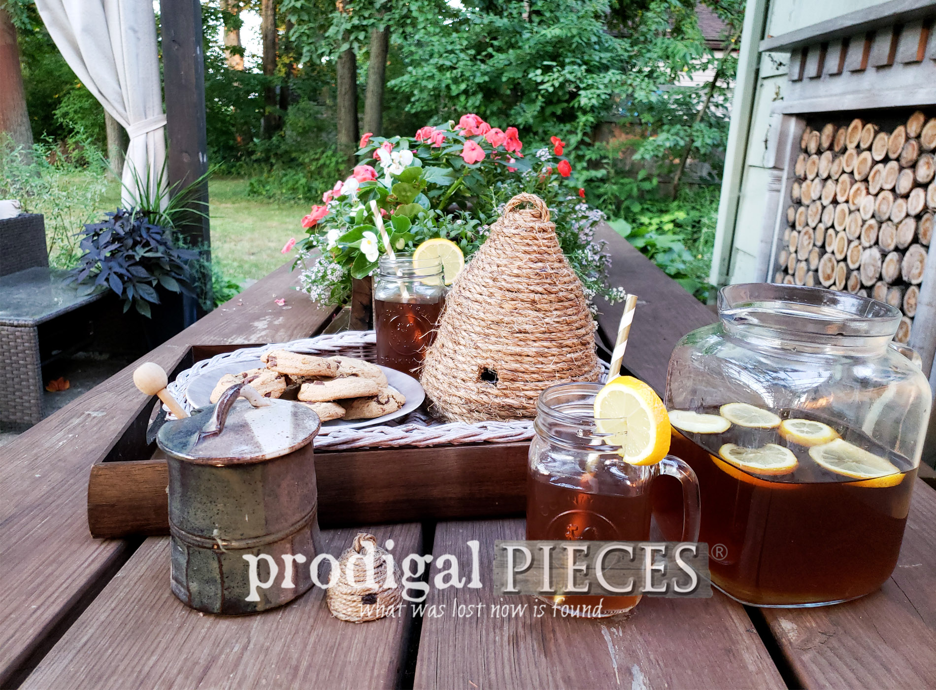 Featured DIY Bee Skep from Upcycled Materials | A triple tutorial by Larissa of Prodigal Pieces | prodigalpieces.com