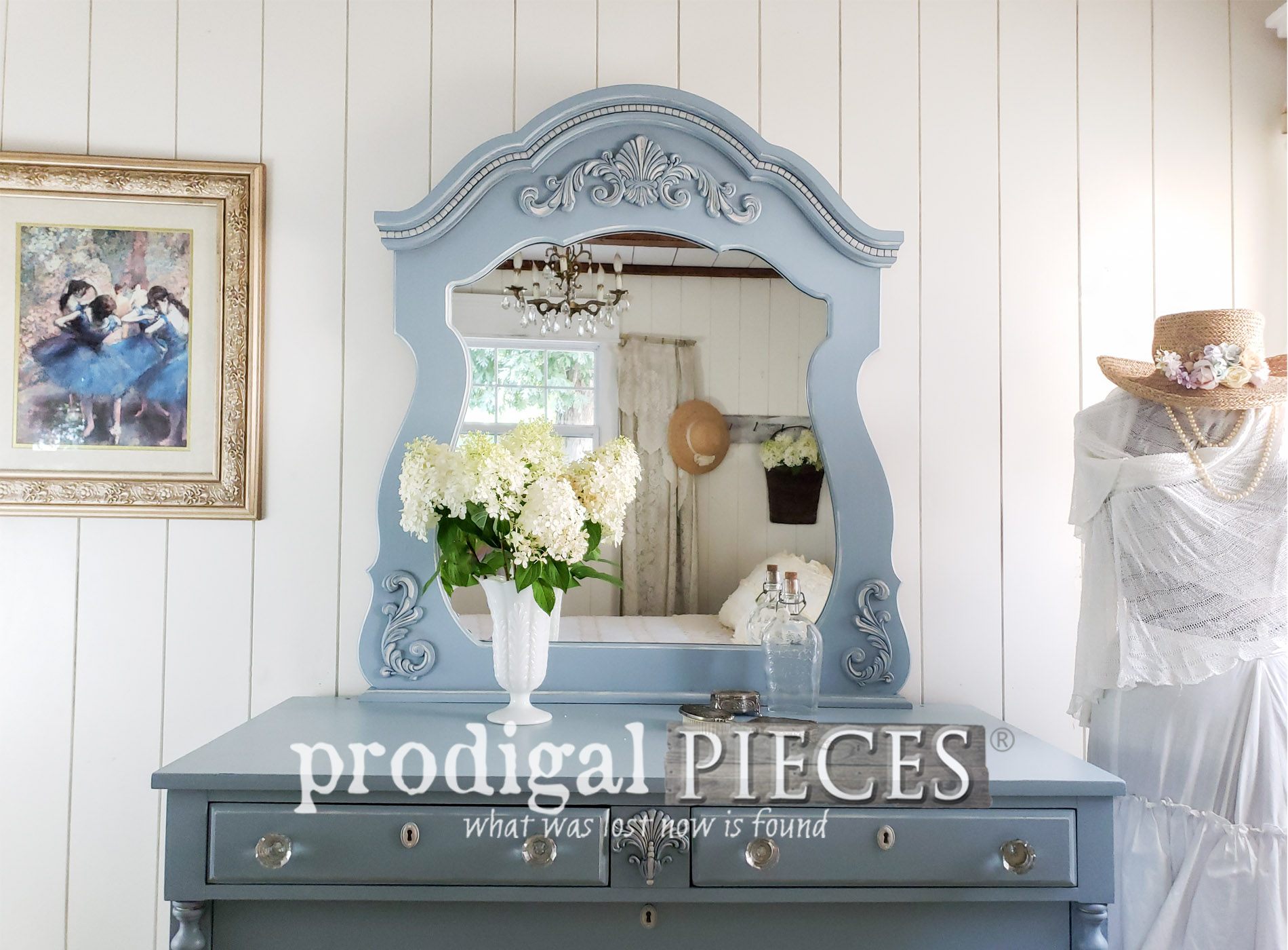 Featured Upcycled Dresser & Mirror ~ A Mis-Matched Pair Finds New Life by Prodigal Pieces | shop.prodigalpieces.com