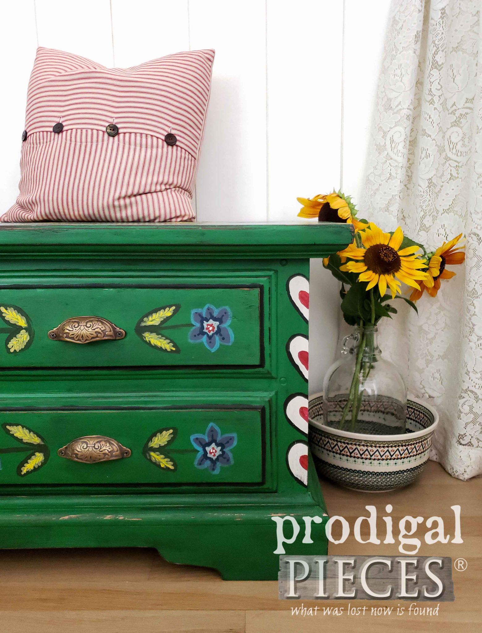 Hand-Painted Blanket Chest, Hope Chest by Larissa of Prodigal Pieces | prodigalpieces.com