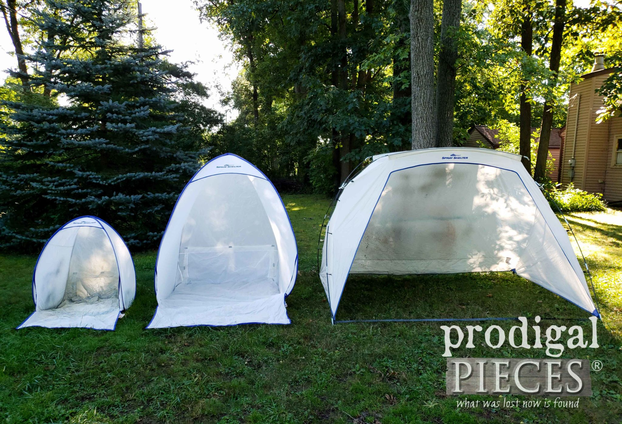 HomeRight Selection of Spray Shelters by Size | prodigalpieces.com
