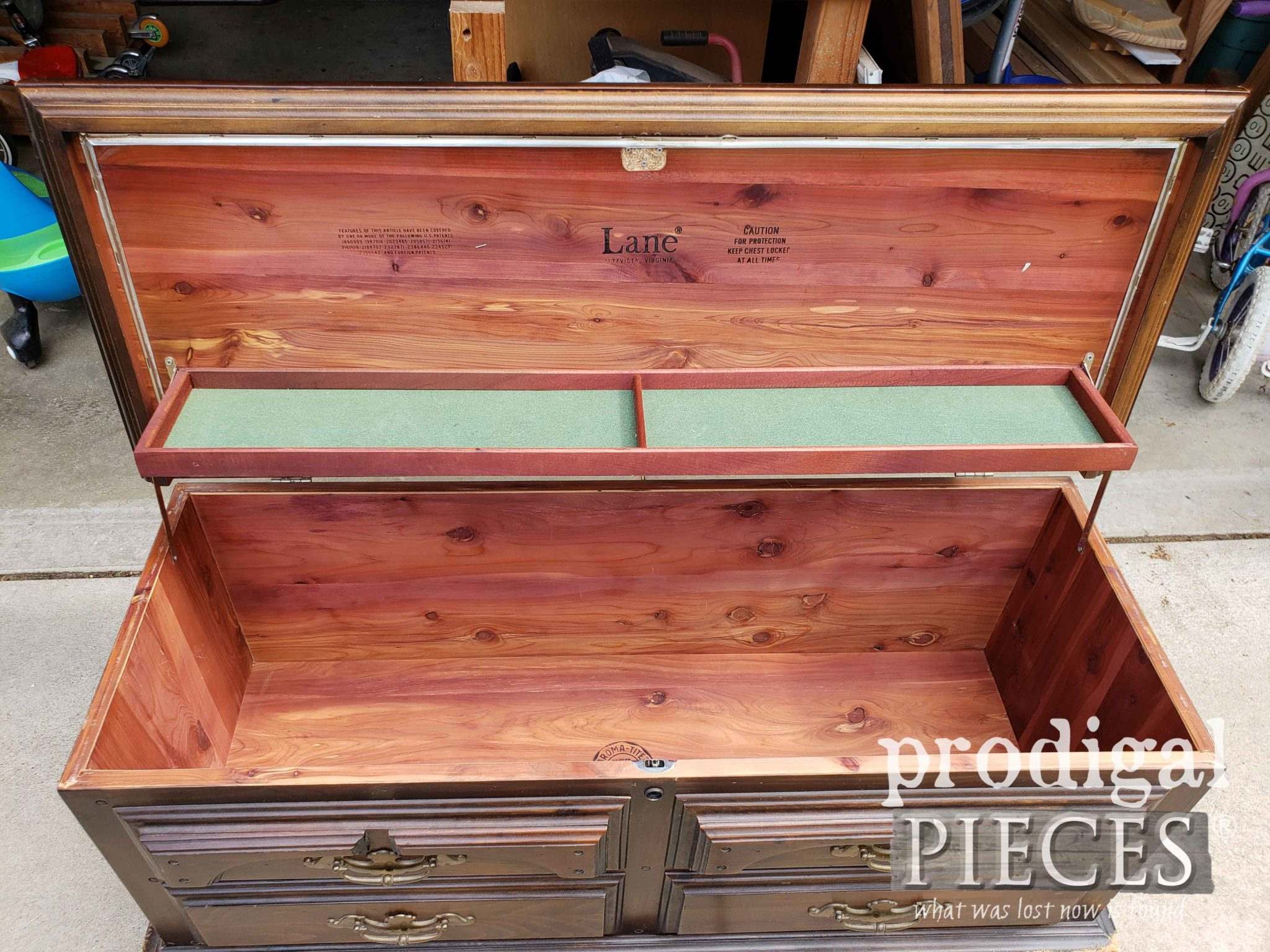 Vintage Cedar Lined Lane Blanket Chest | prodigalpieces.com