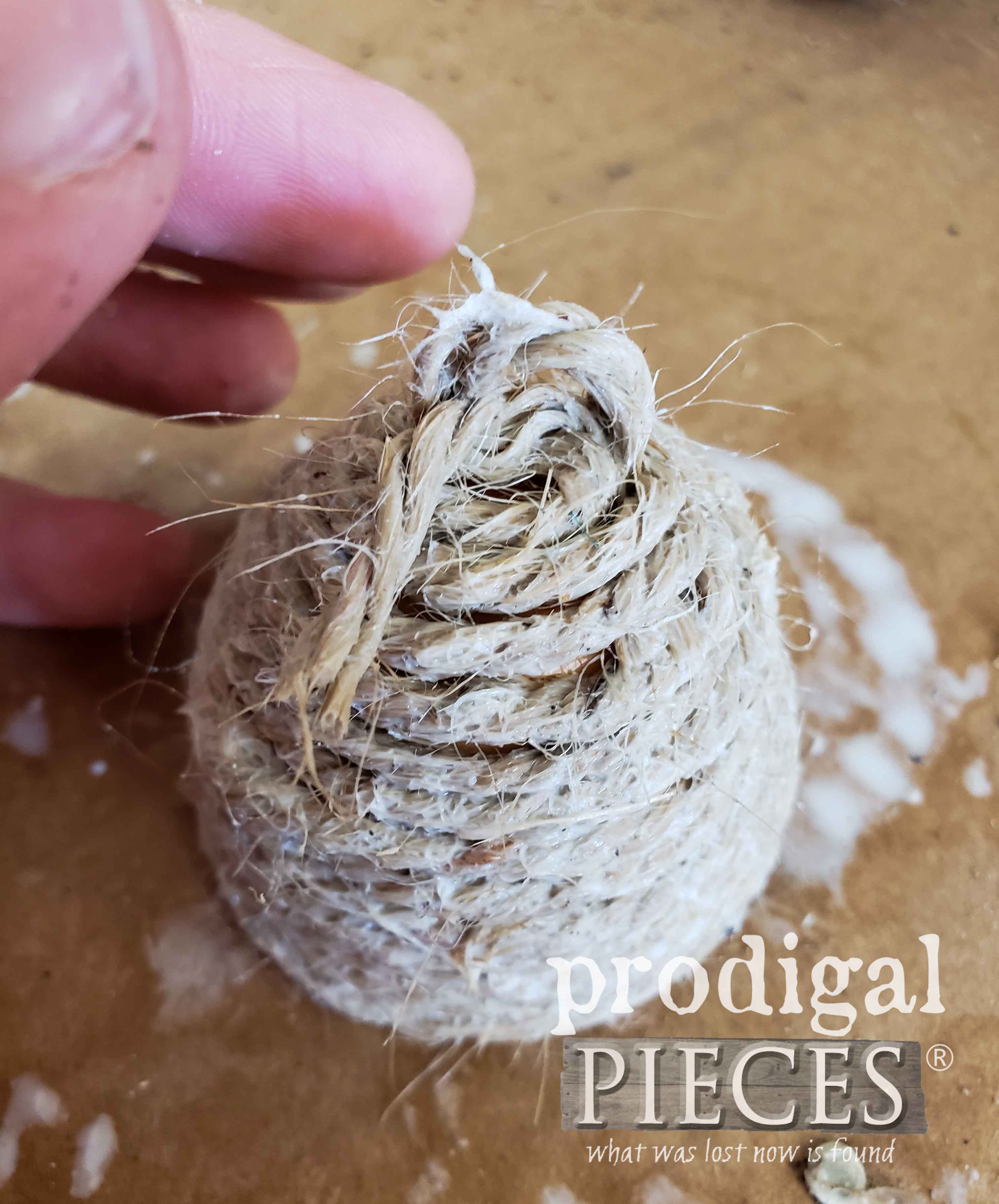 Miniature Bee Skep DIY for Party Favors and Kid Crafts by Prodigal Pieces | prodigalpieces.com