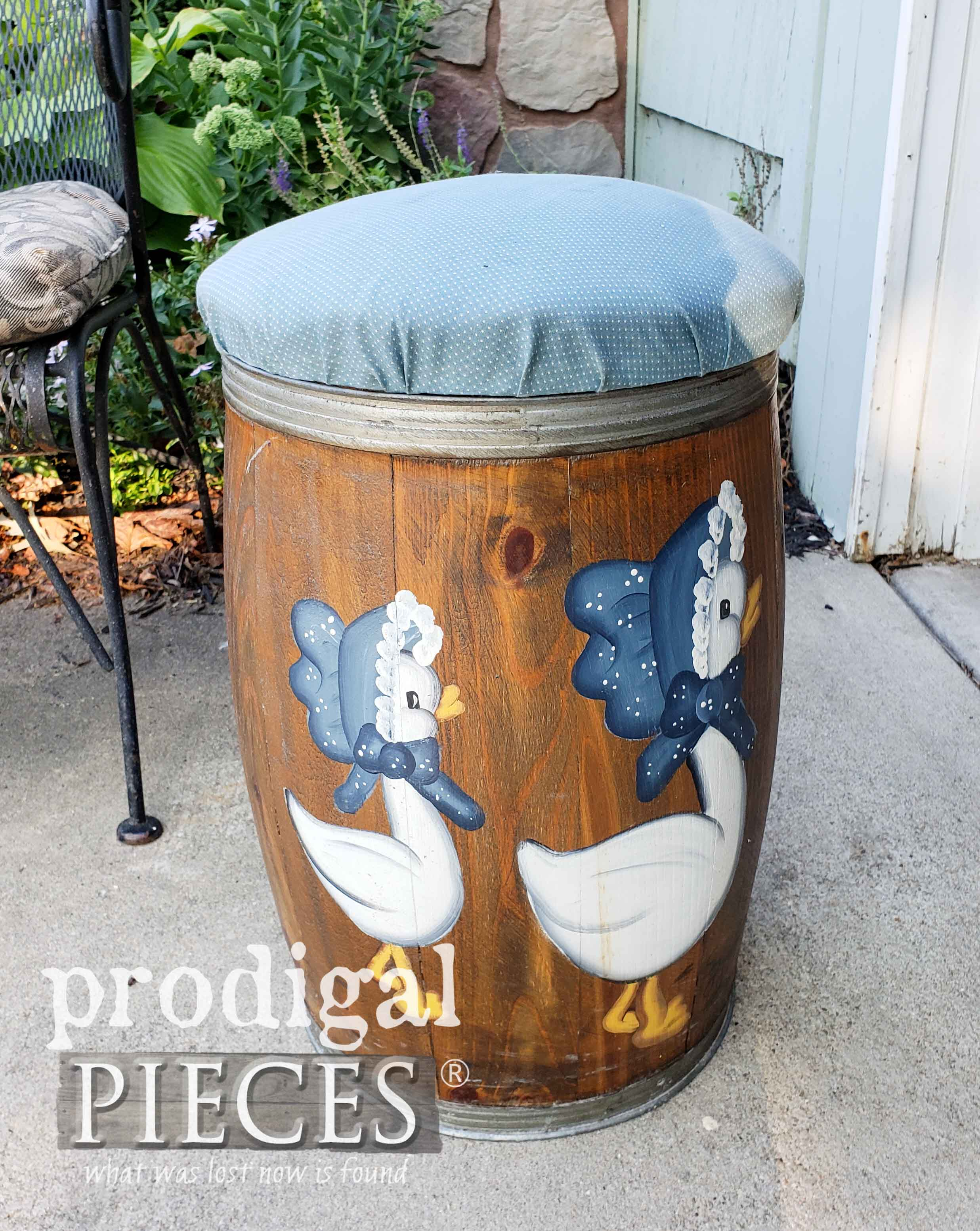 1980's Goose Nail Barrel Before Makeover by Prodigal Pieces | prodigalpieces.com