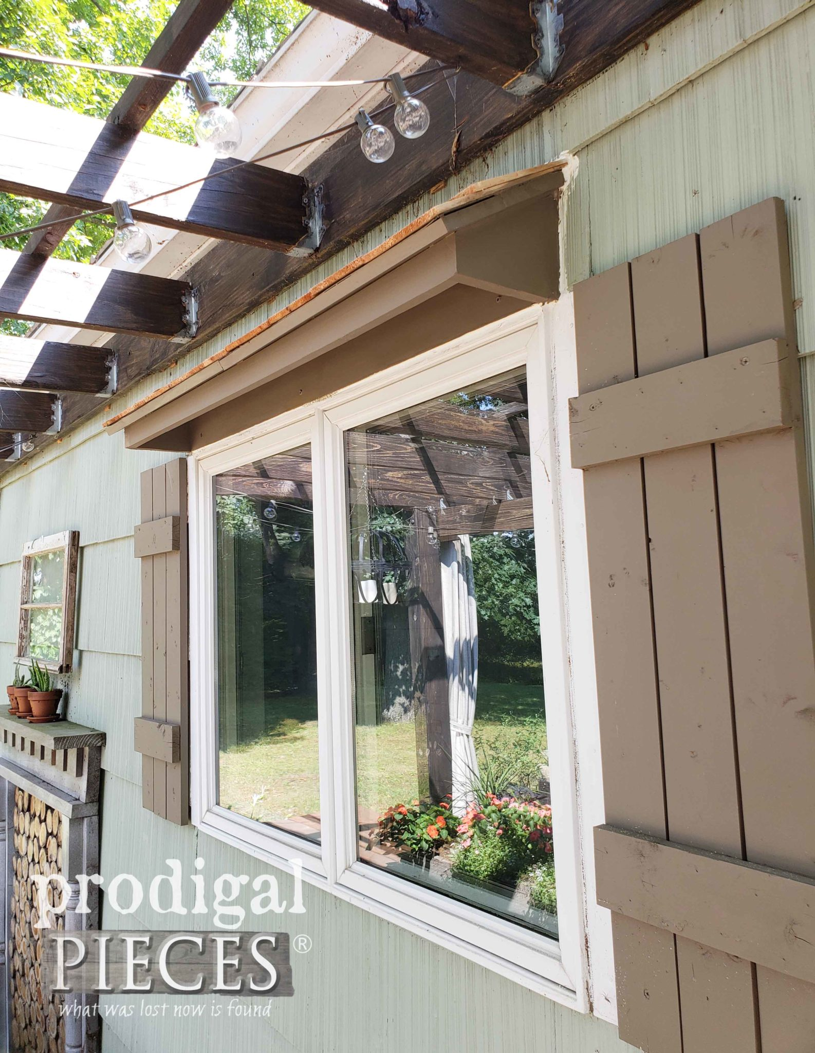 New Window Awning with Cedar Shake Roof by Prodigal Pieces | prodigalpieces.com