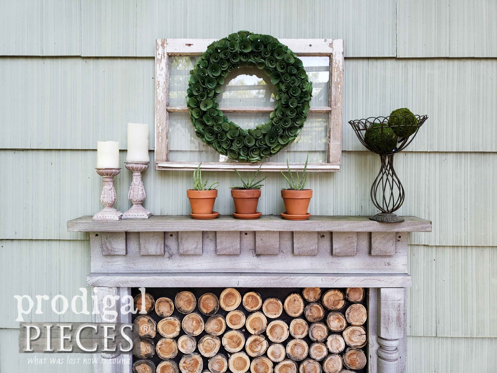 DIY Outdoor Faux Fireplace by Larissa of Prodigal Pieces | prodigalpieces.com