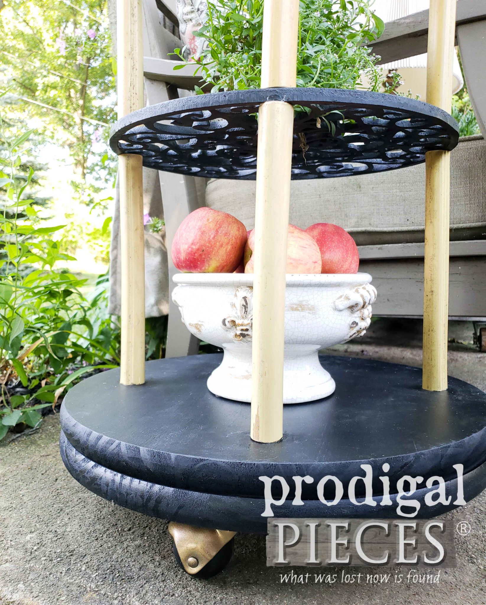 Upcycled Plant Caddy Base with Casters by Larissa of Prodigal Pieces | prodigalpieces.com