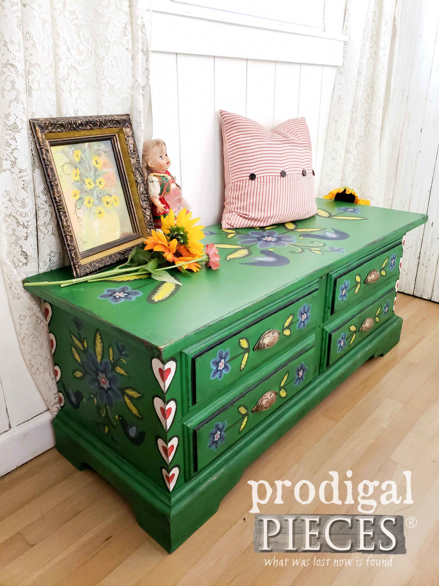 Primitive Polish Folk Art Blanket Chest by Larissa of Prodigal Pieces | prodigalpieces.com