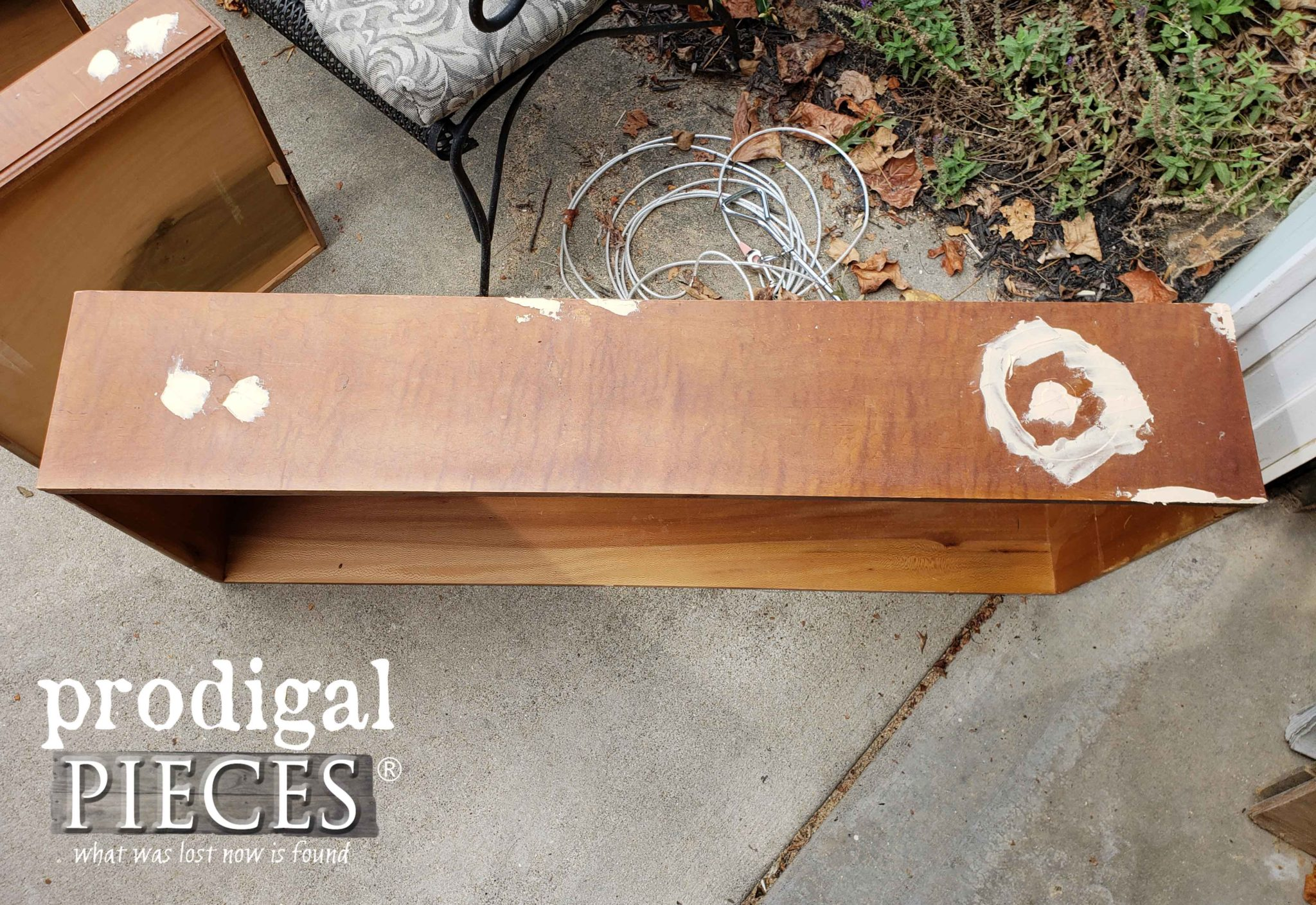 Repaired Drawer with Wood Filler | prodigalpieces.com