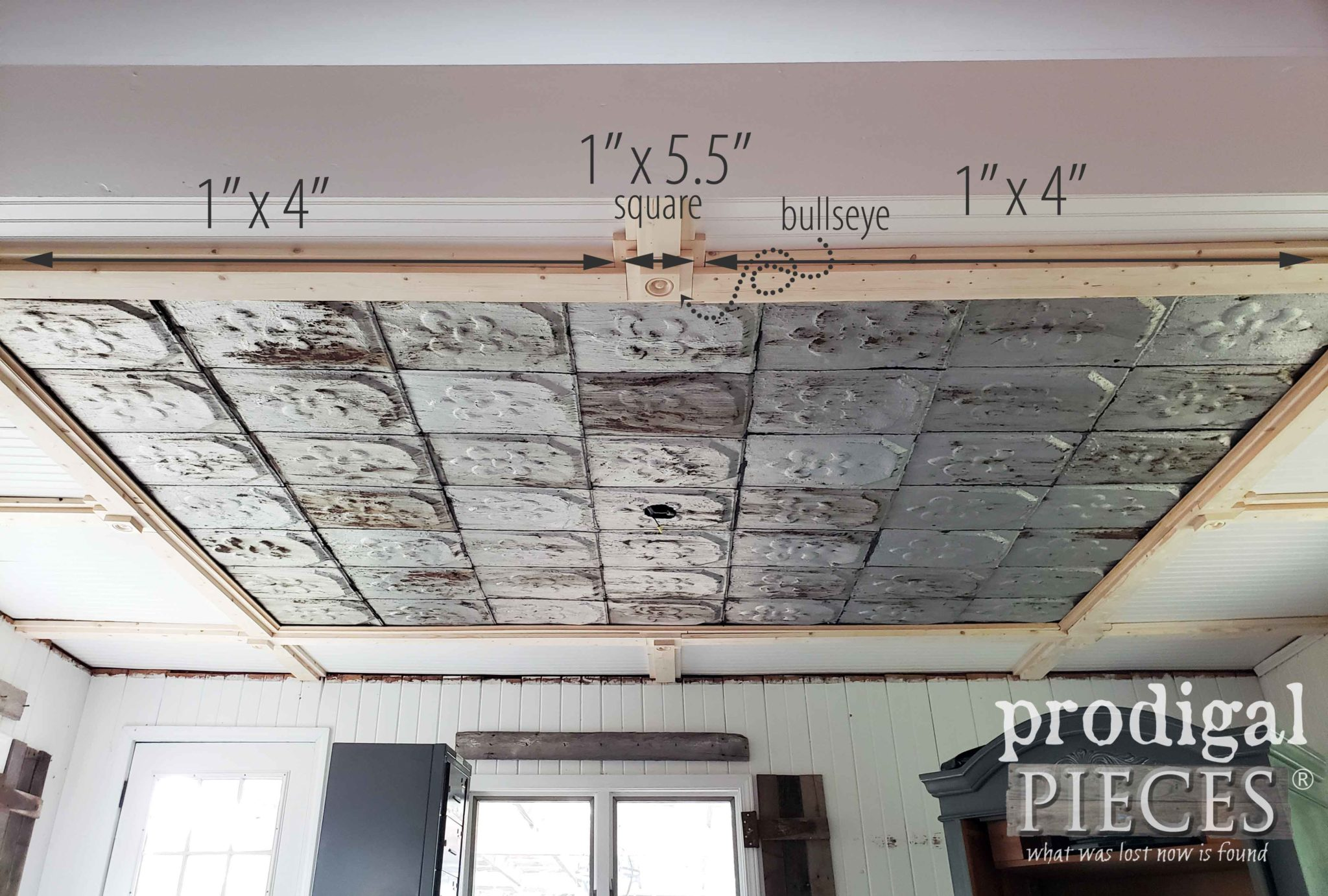 Second Course of the DIY Coffered Ceiling by Prodigal Pieces | prodigalpieces.com