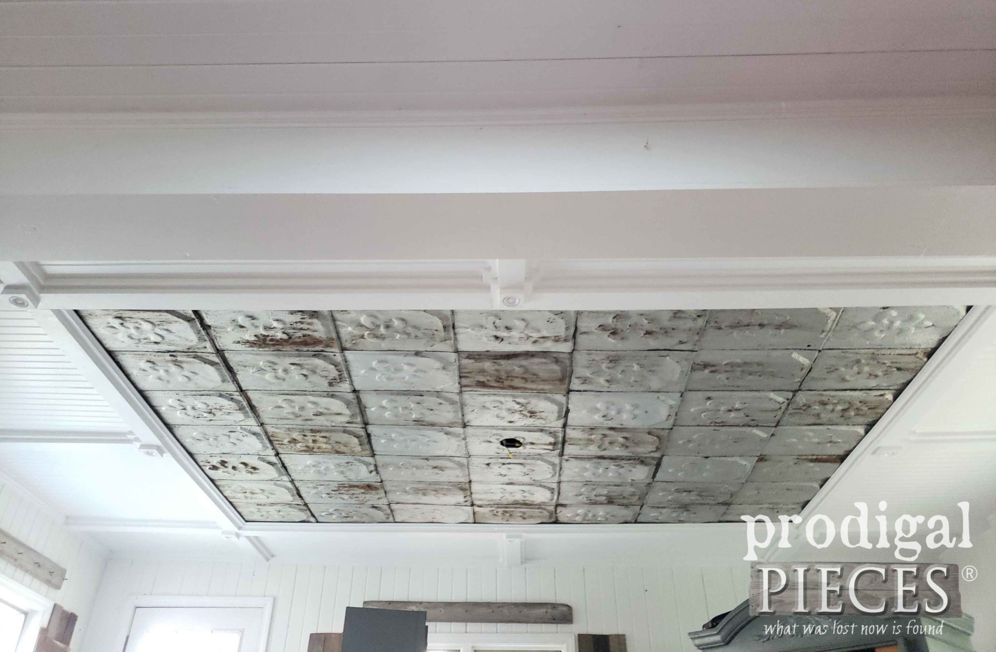 Coffered Ceiling with Paint Finish by Prodigal Pieces | prodigalpieces.com
