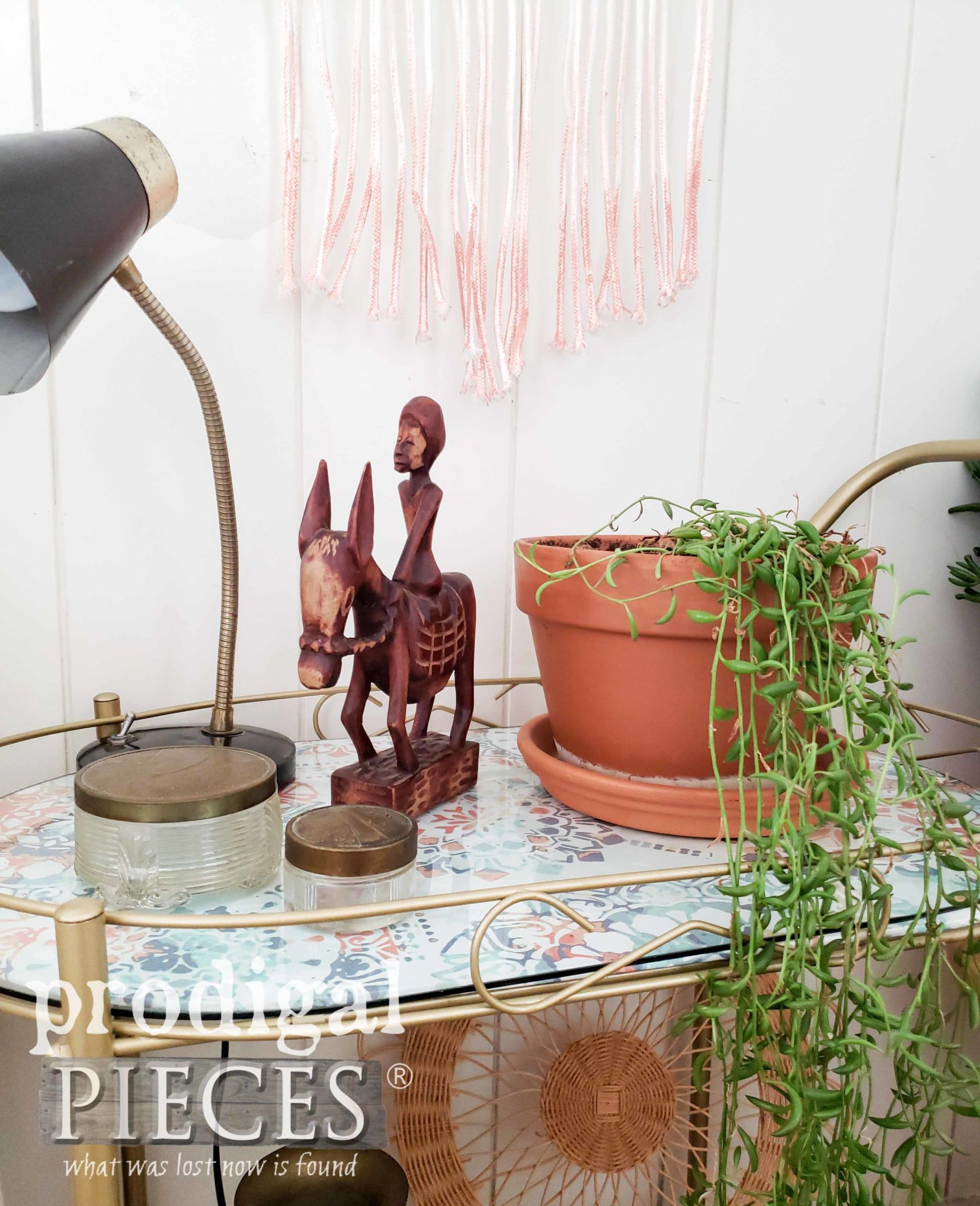 Vintage Boho Style Home Decor as Styled by Larissa of Prodigal Pieces | prodigalpieces.com