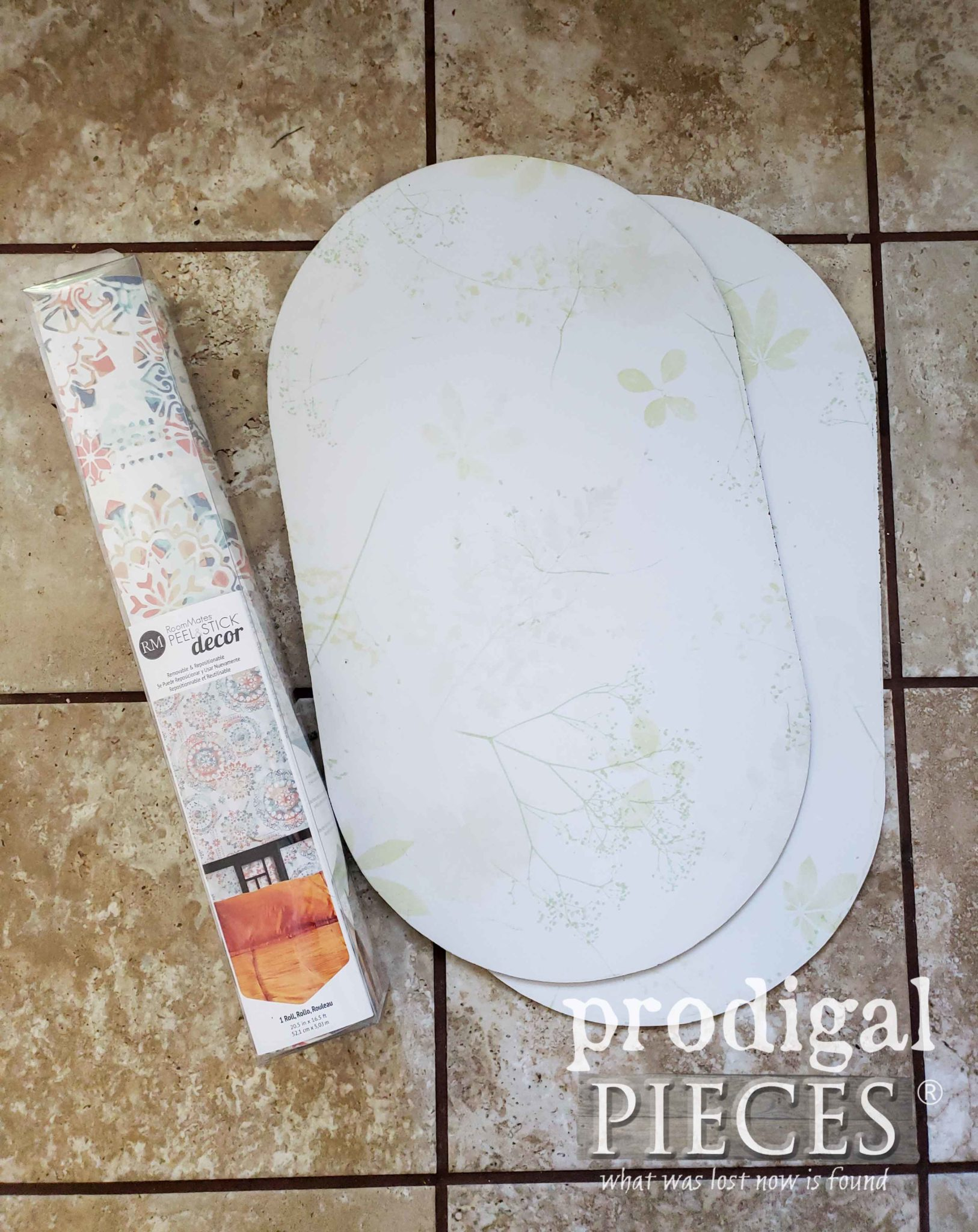 Peel N' Stick Wallpaper for Bar Cart Update | prodigalpieces.com