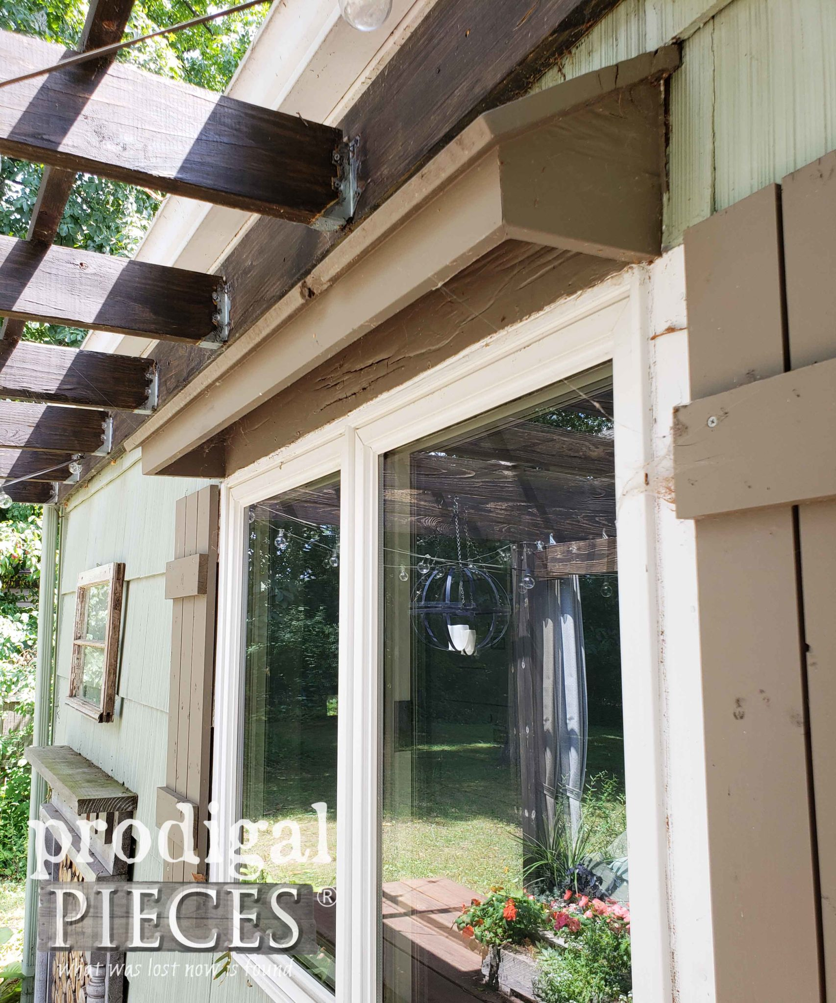 Rotted Window Awning Before | prodigalpieces.com