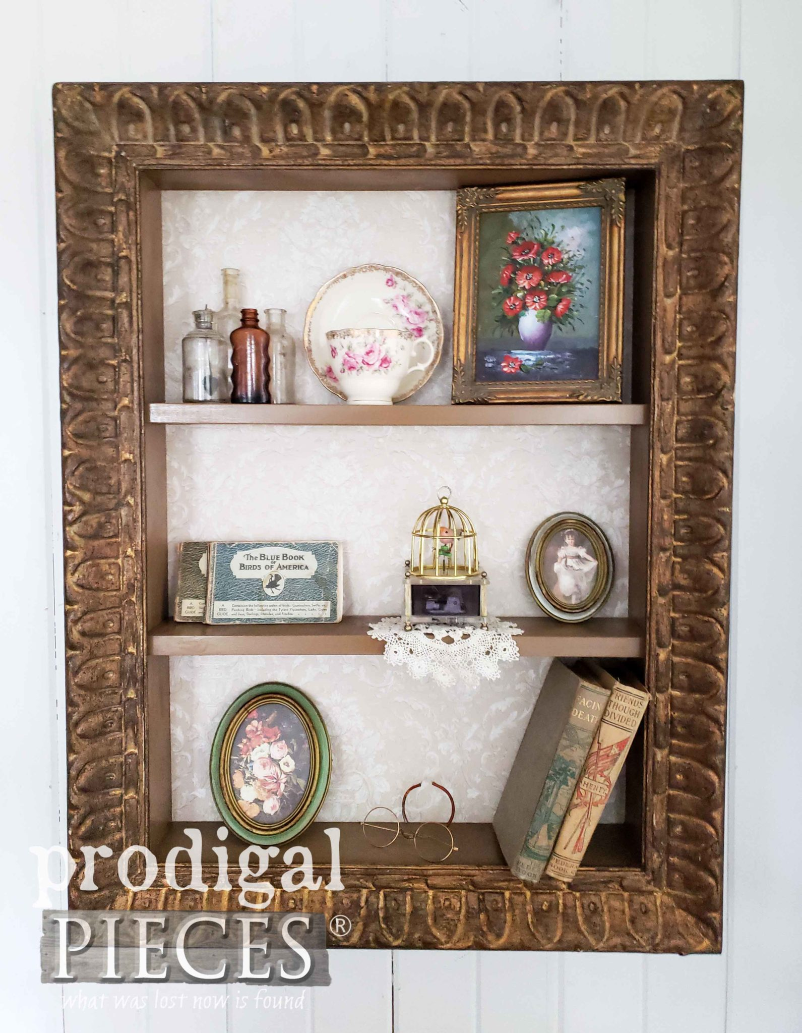 Antique Picture Frame Upcycled into Decorative Shelf by Larissa of Prodigal Pieces | prodigalpieces.com