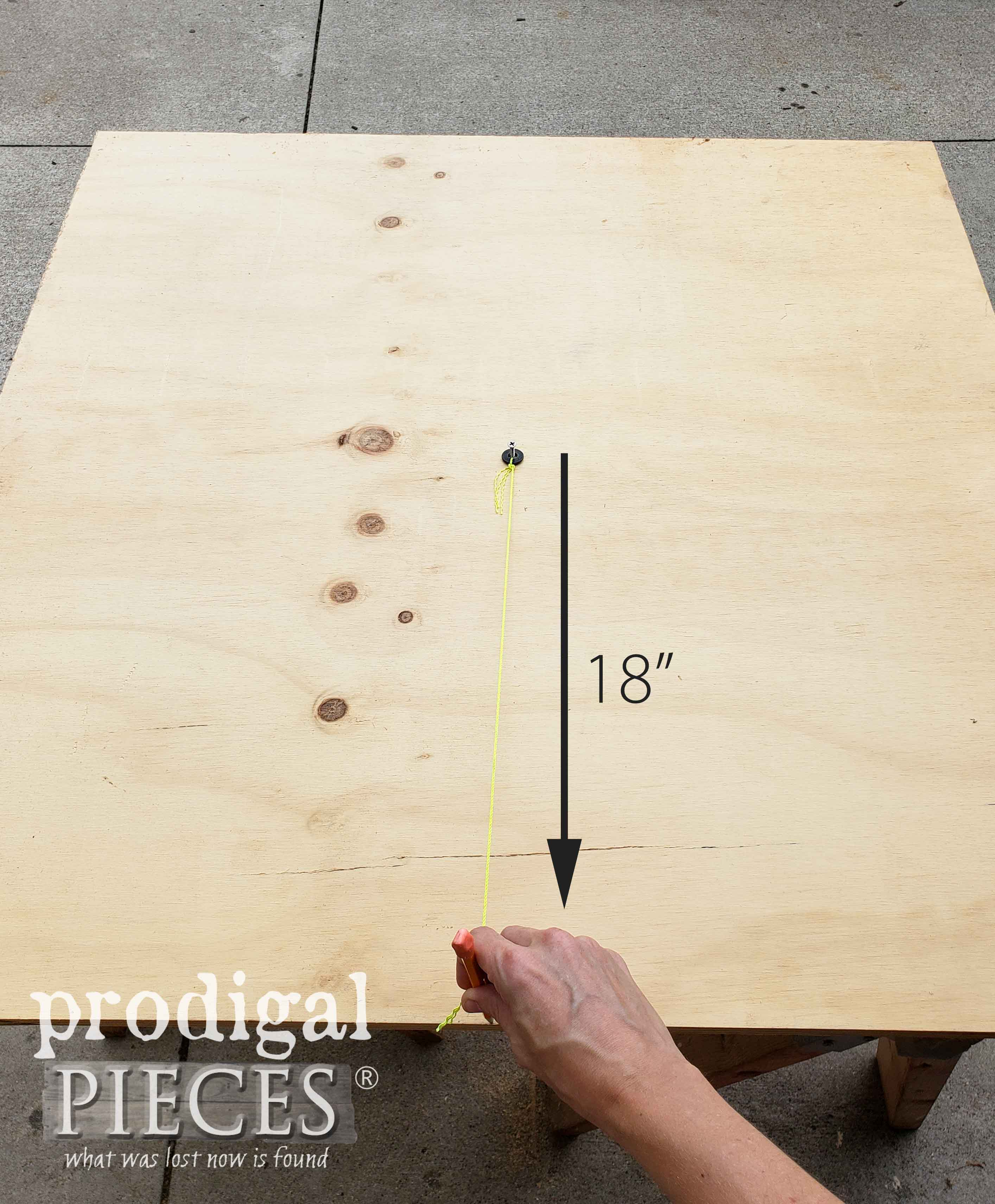 DIY Compass to Make Large Circle | prodigalpieces.com