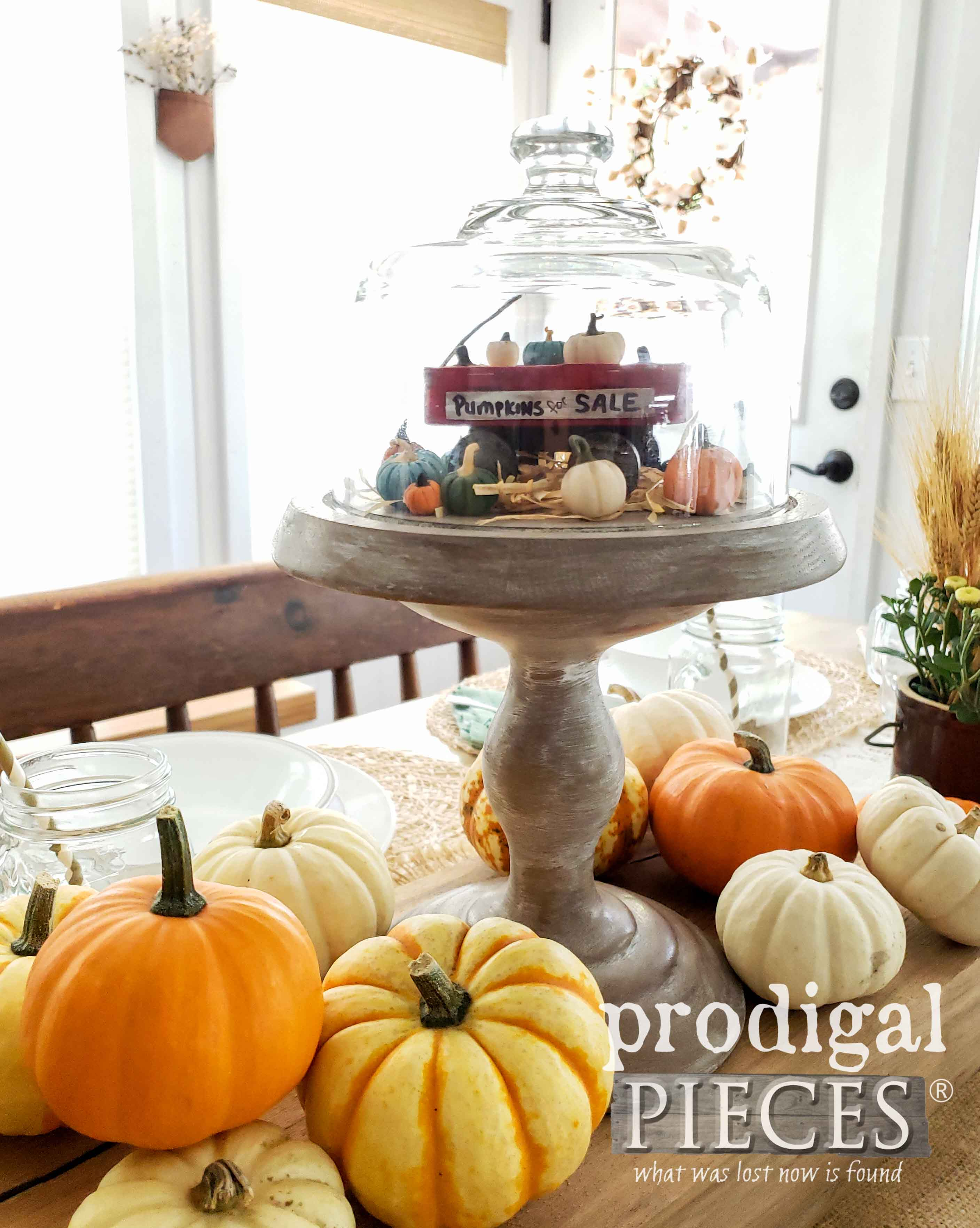 DIY Farmhouse Cloche Made from Upcycled Cheese Dome by Prodigal Pieces | prodigalpieces.com