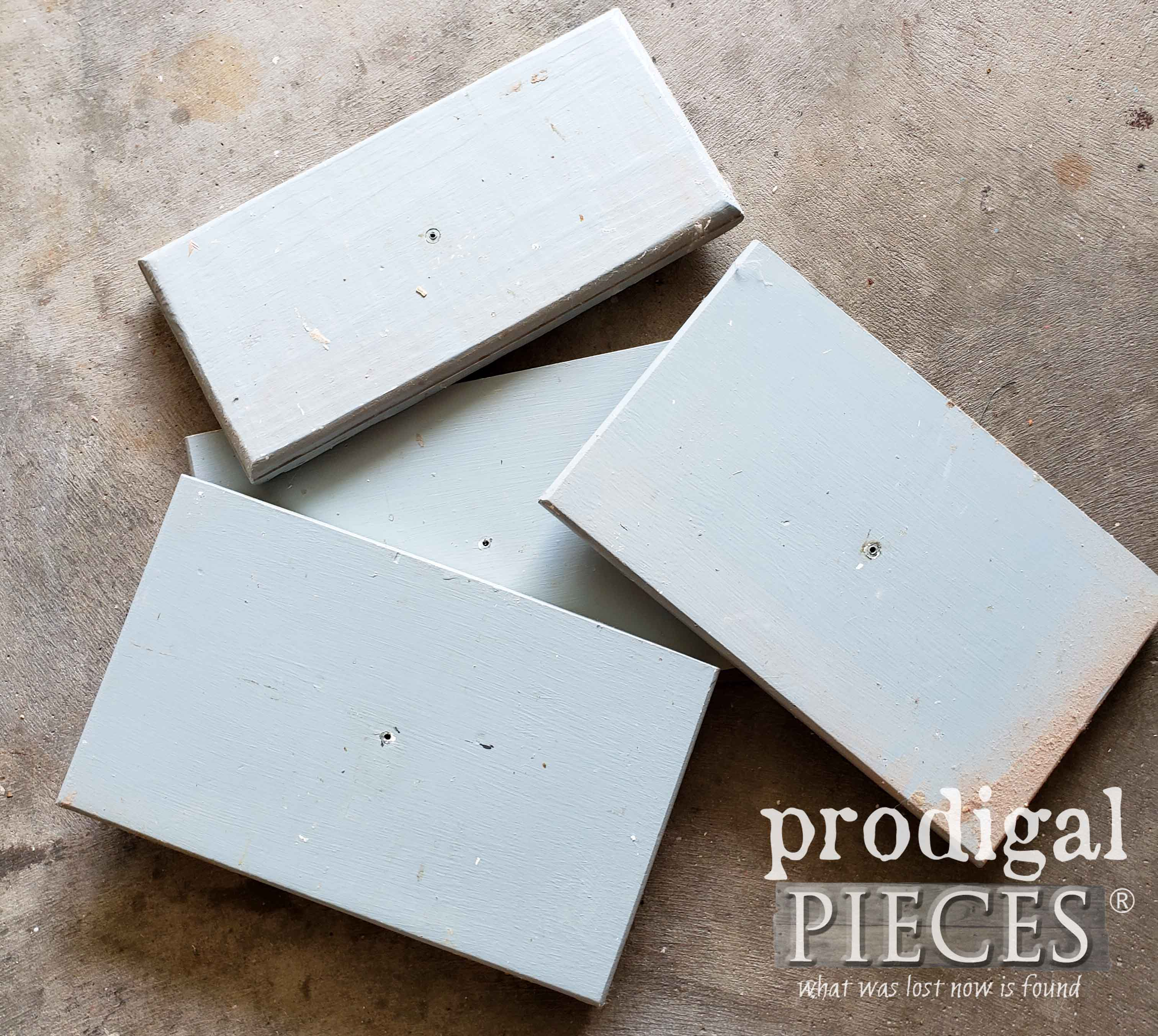 Upcycled Drawer Fronts Before Makeover by Prodigal Pieces | prodigalpieces.com