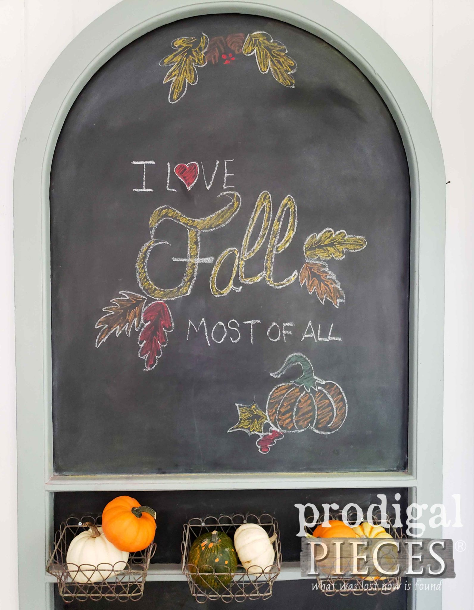 DIY Fall Chalkboard Sign by Larissa of Prodigal Pieces | prodigalpieces.com