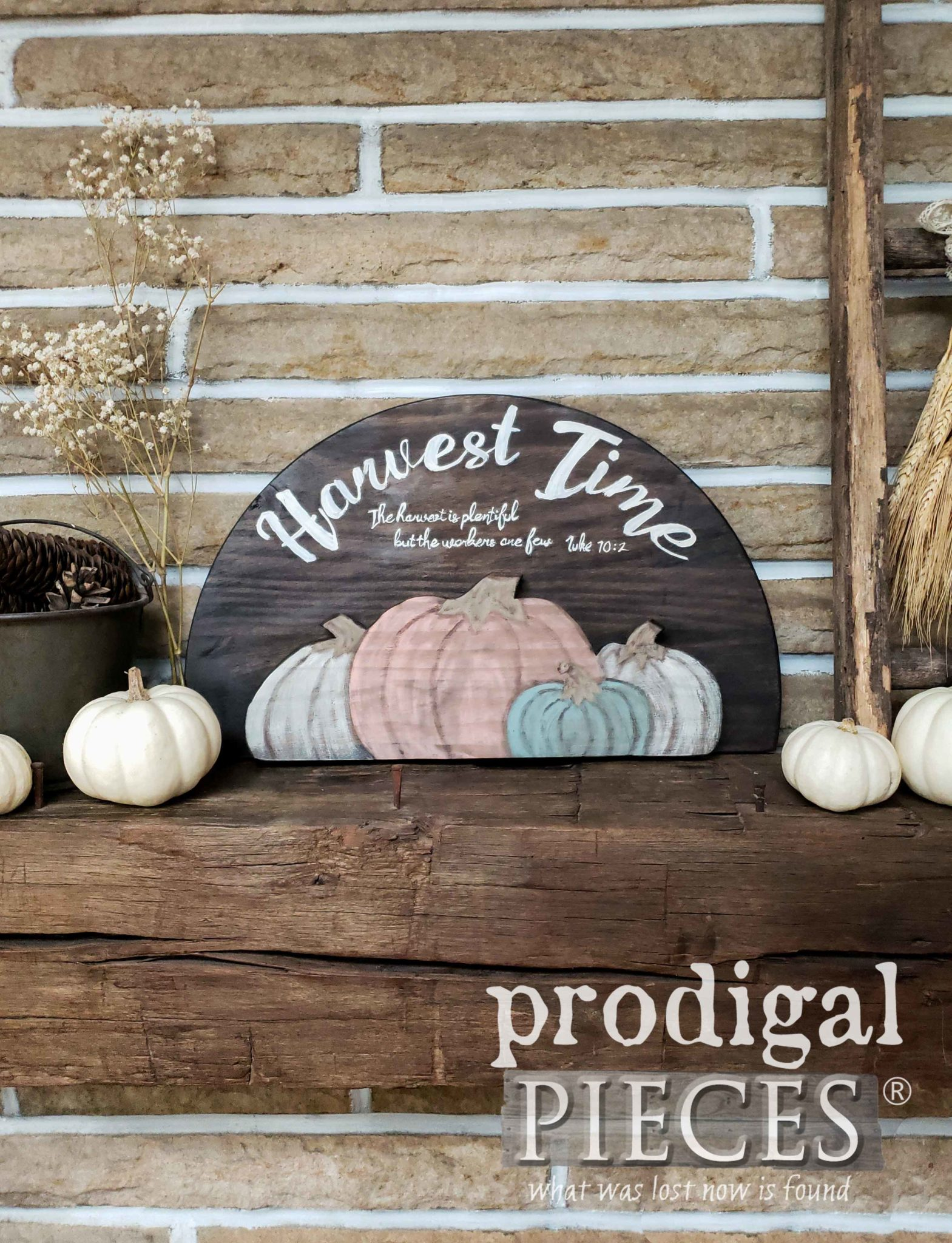 Farmhouse Style Harvest Sign with DIY Tutorial by Larissa of Prodigal Pieces | prodigalpieces.com