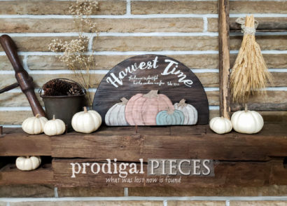 Featured DIY Harvest Time Sign for Fall Fun by Larissa of Prodigal Pieces | prodigalpieces.com