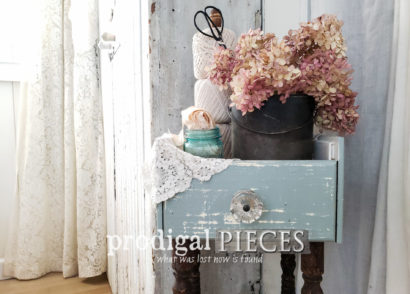 Featured Upcycled Plant Stand Made from Repurposed Drawer Fronts by Larissa of Prodigal Pieces | prodigalpieces.com