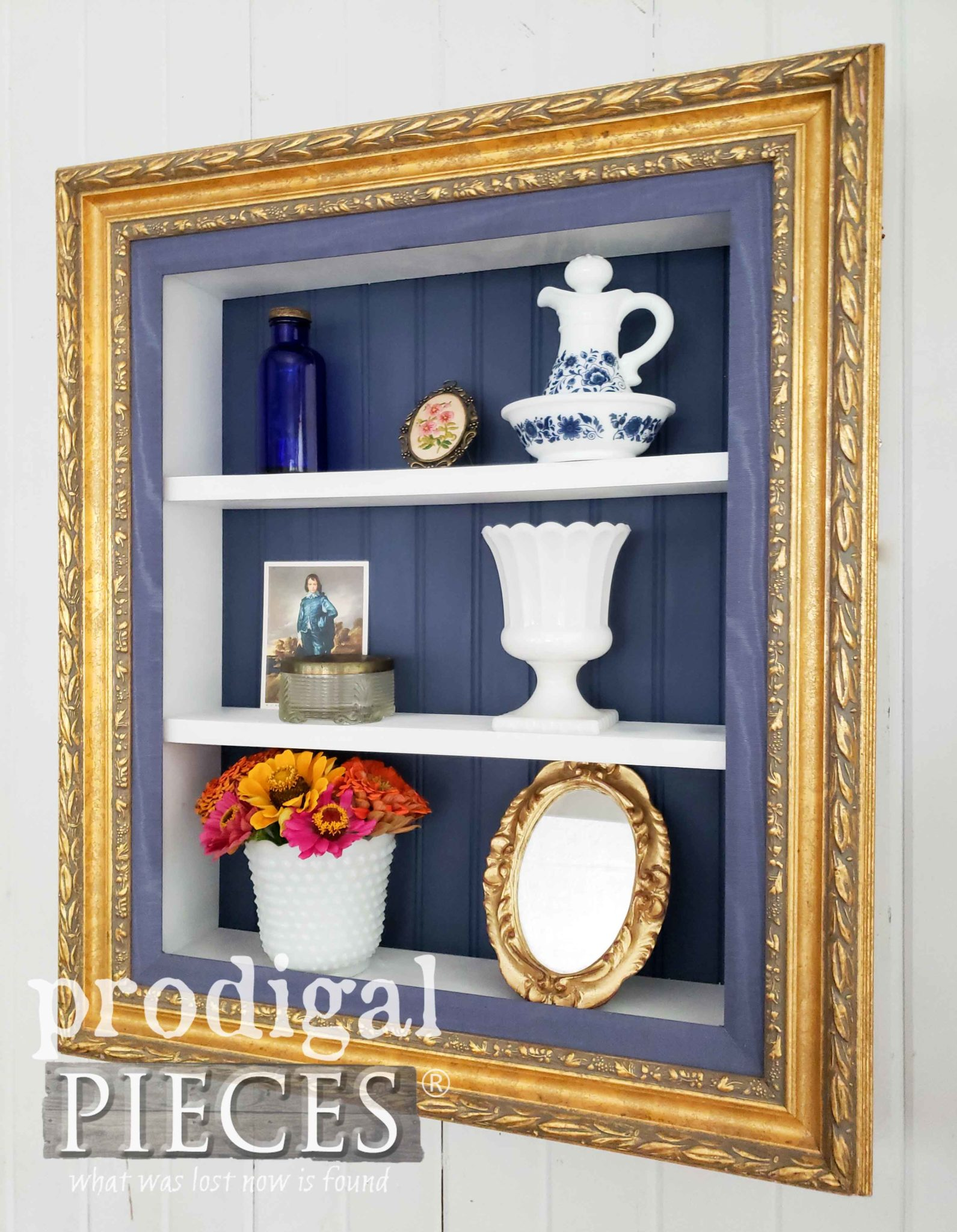 Handmade Upcycled Picture Frame Shelf with DIY Tutorial by Larissa of Prodigal Pieces | prodigalpieces.com