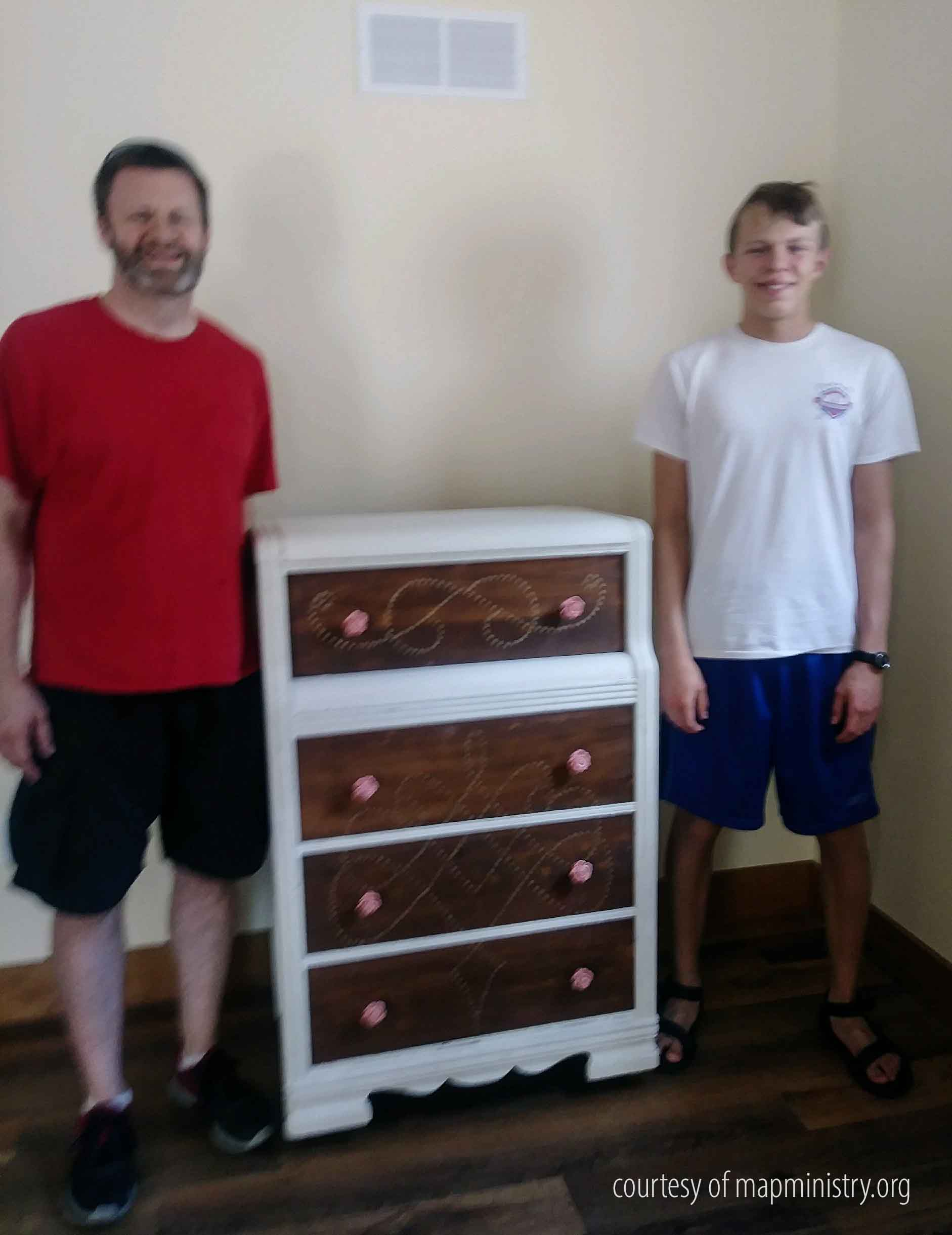 Haynes Family Donates Art Deco Chest of Drawers to MAP Ministry | prodigalpieces.com