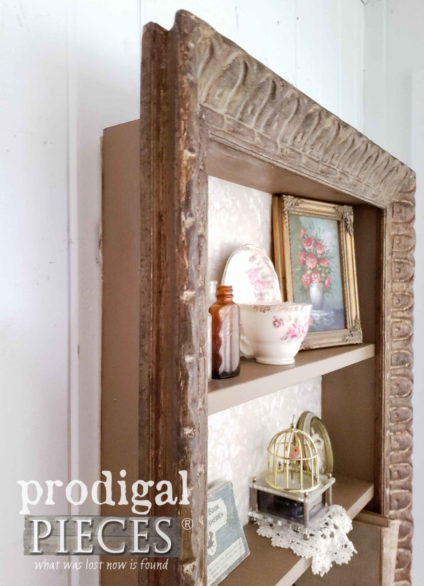 Repurposed Picture Frame Wall Shelf Depth by Prodigal Pieces | prodigalpieces.com