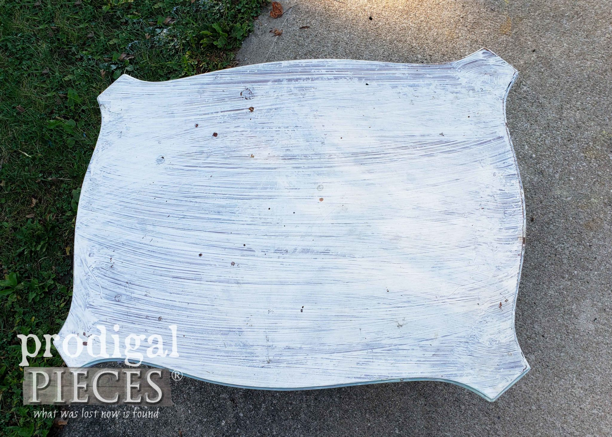 Primed Vintage Side Table Top | prodigalpieces.com
