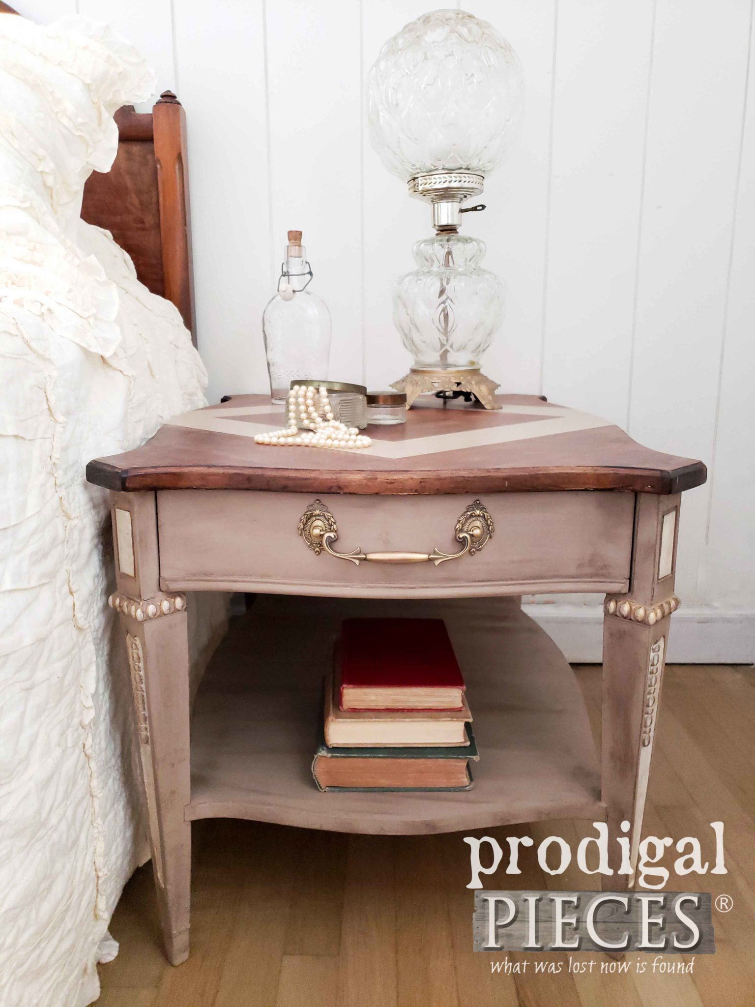 Vintage Side Table Restored and Refreshed by Larissa of Prodigal Pieces | prodigalpieces.com