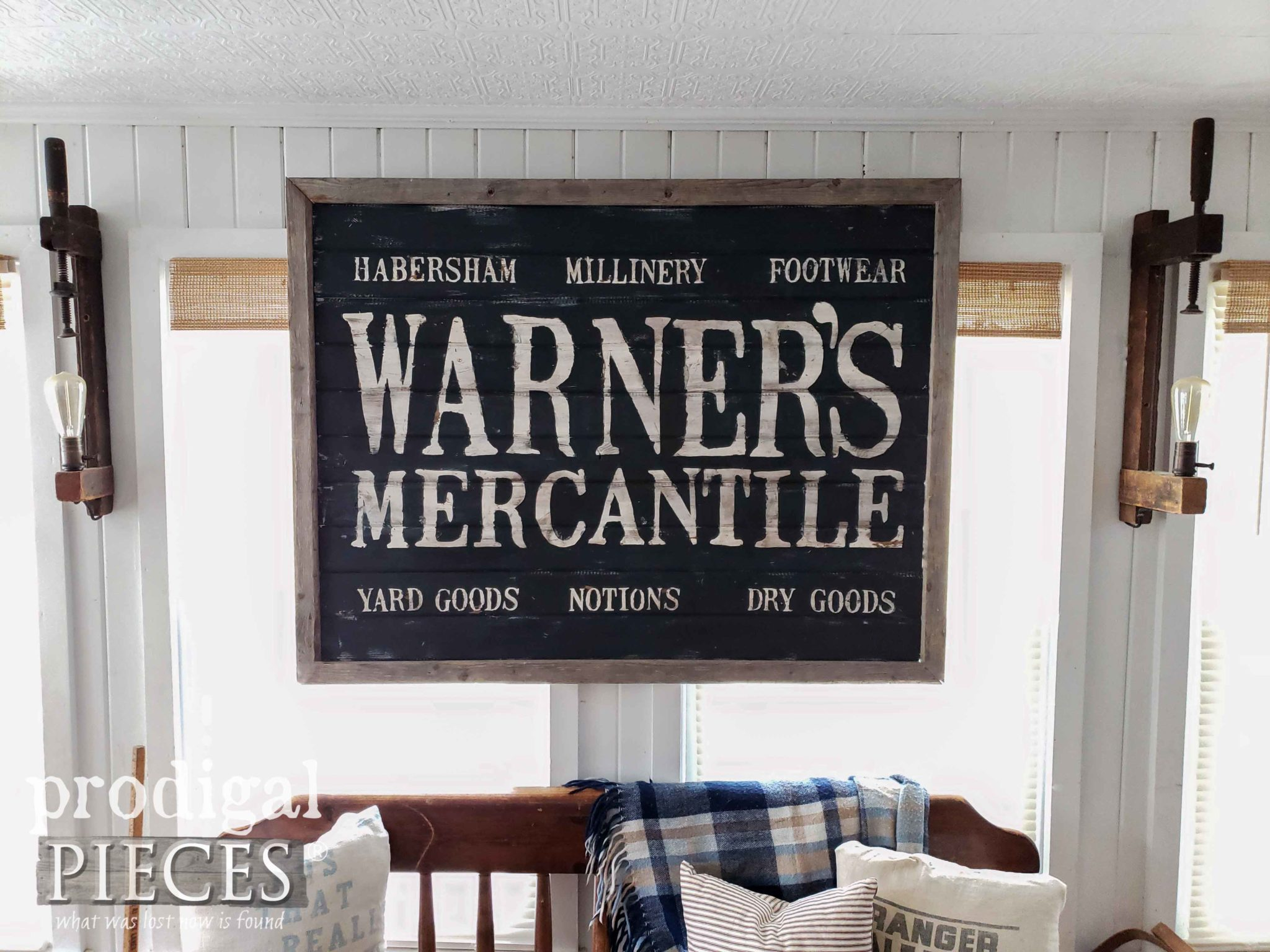Antique Farmhouse Sign with DIY Video Tutorial by Larissa of Prodigal Pieces | prodigalpieces.com
