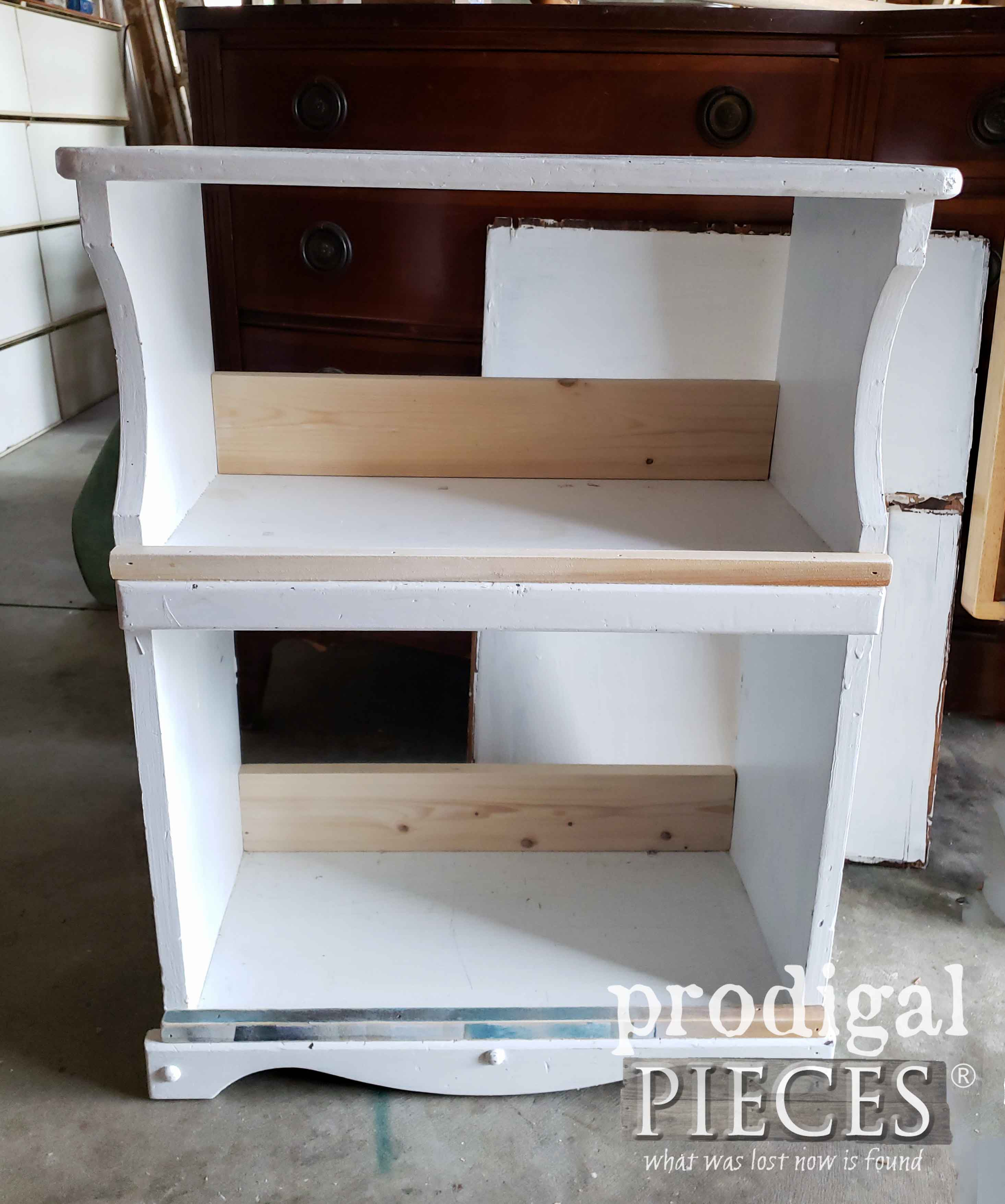 Assembled Upcycled Bookcase Ready for Paint | prodigalpieces.com