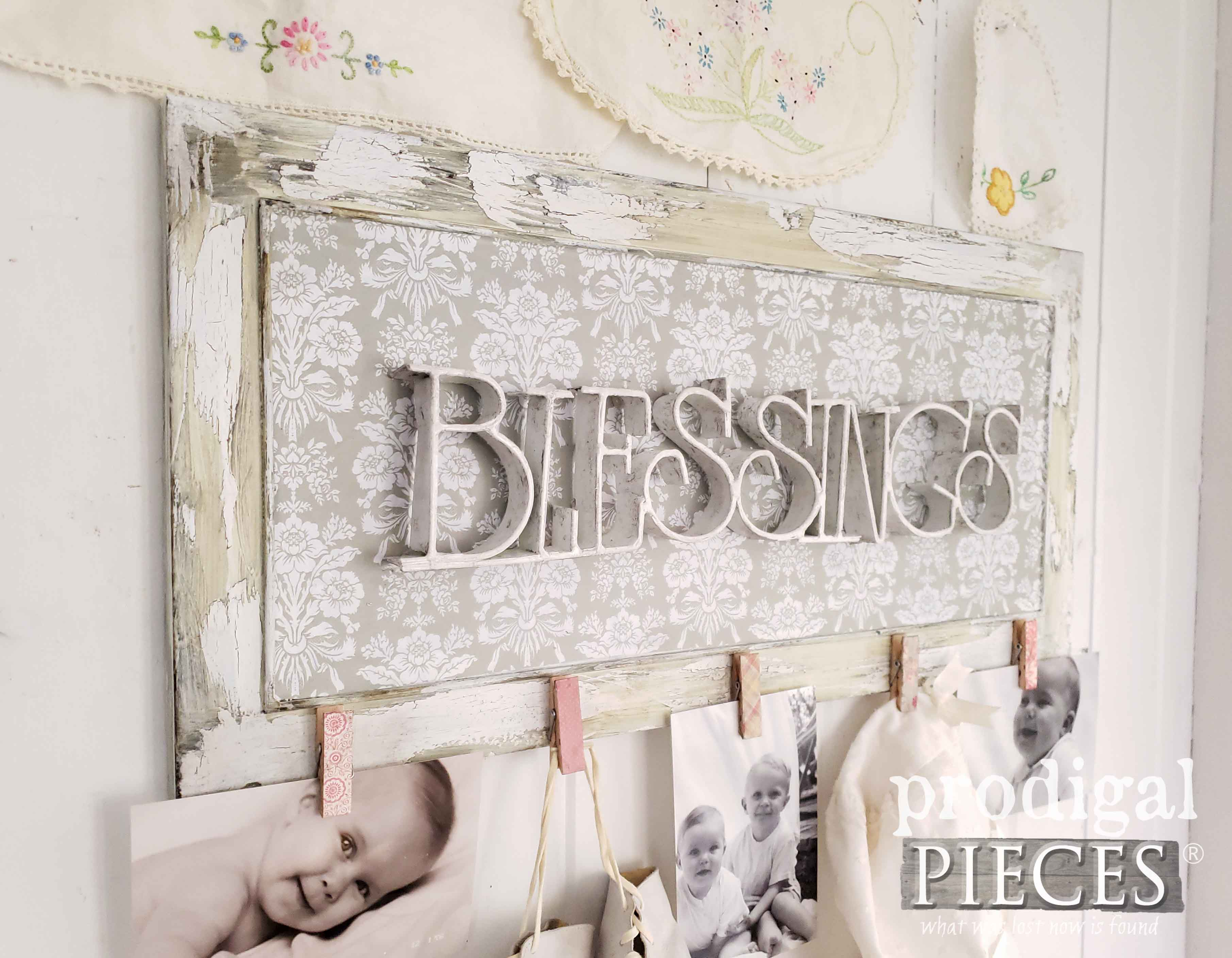 Blessings Wall Art Photo Holder for your Home Decor by Larissa of Prodigal Pieces | prodigalpieces.com