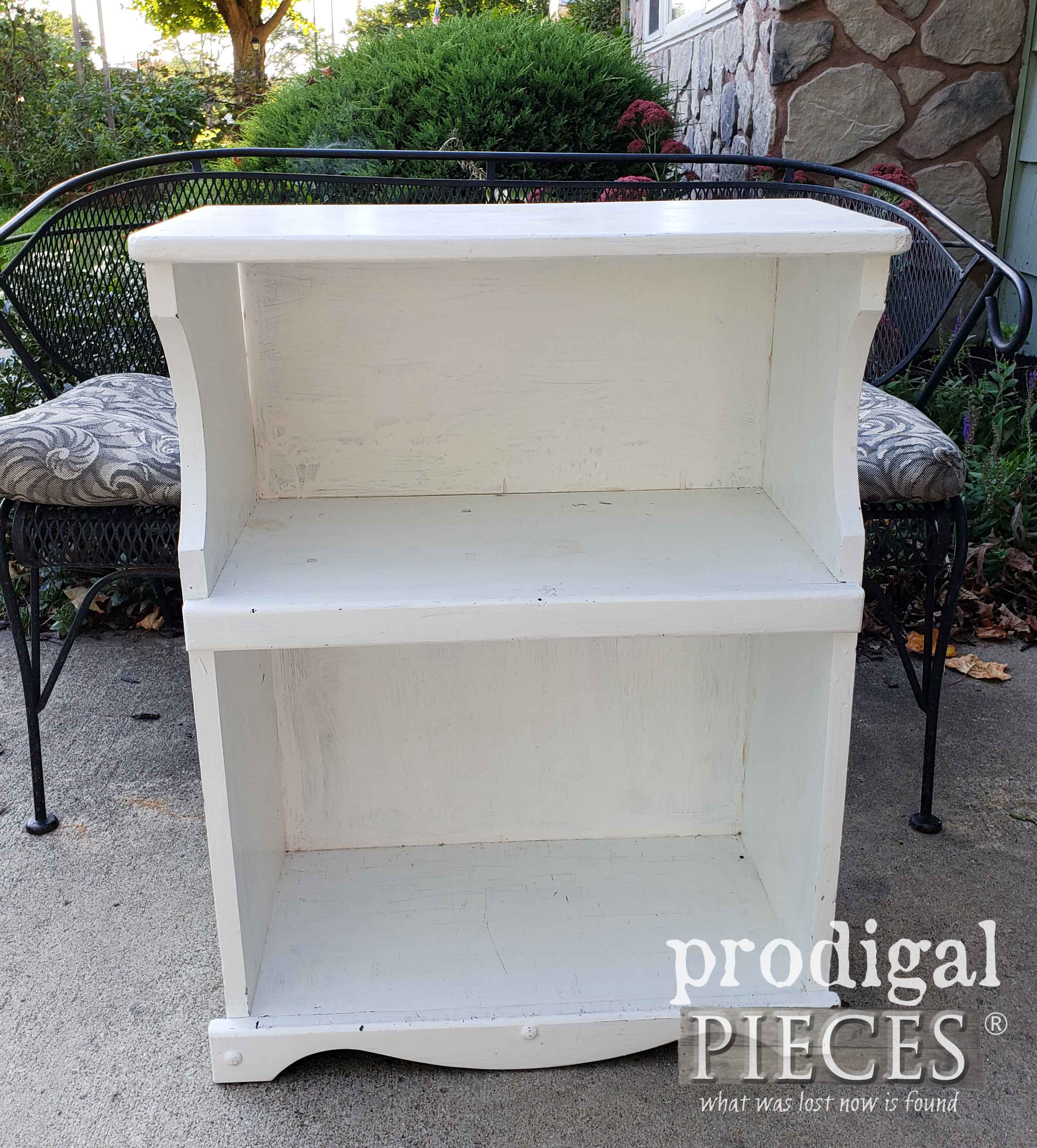 Thrifted Bookcase Before Makeover | prodigalpieces.com