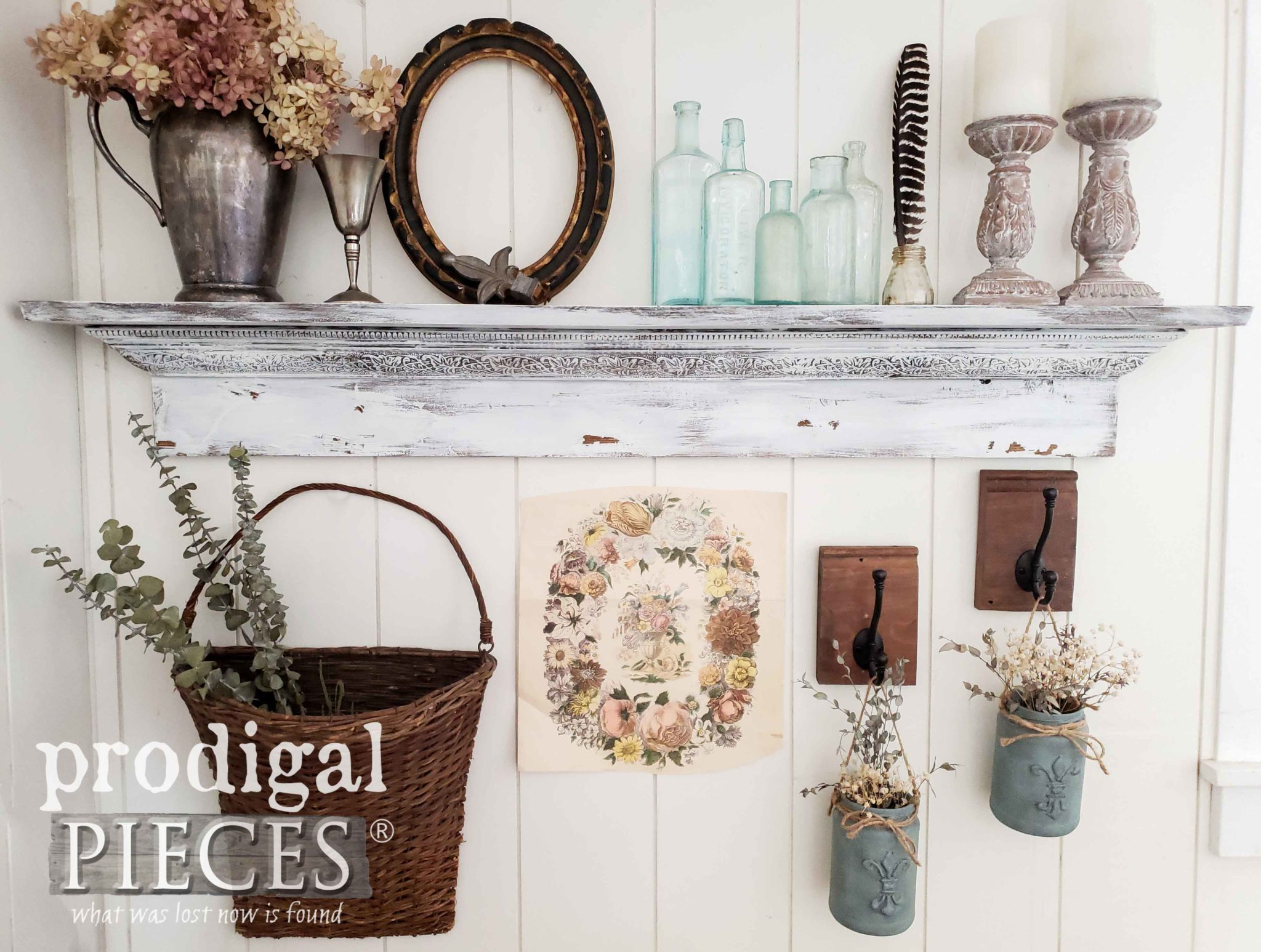 Lovely Collected Vintage Vignette by Larissa of Prodigal Pieces | prodigalpieces.com