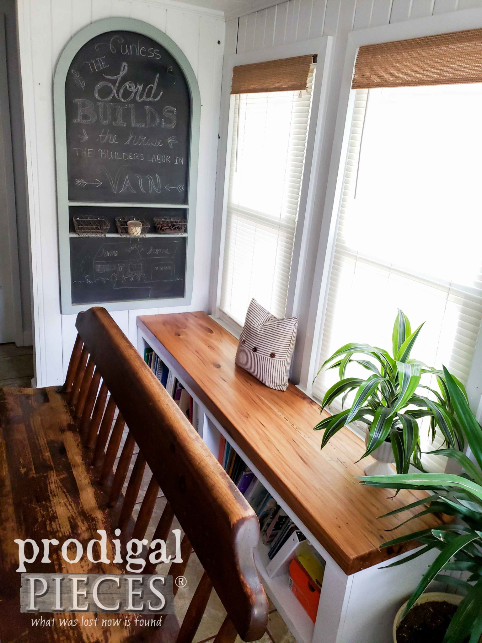 Dining Bench with Built-in Storage and DIY Chalkboard by Prodigal Pieces | prodigalpieces.com