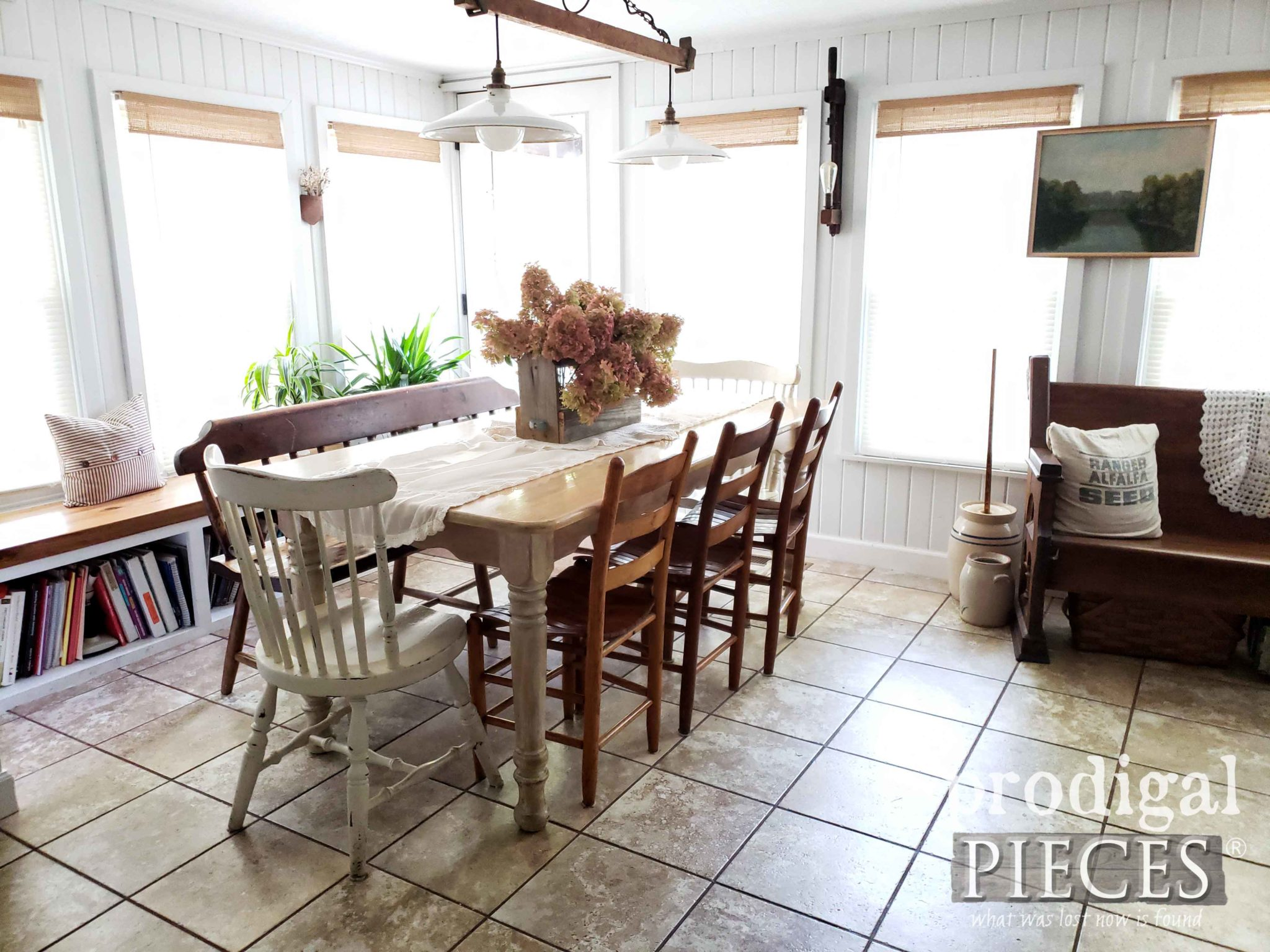Dining Room in Farmhouse Style Home by Larissa of Prodigal Pieces | prodigalpieces.com
