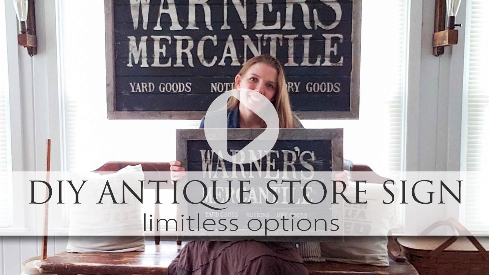 Video Tutorial DIY Antique Store Sign by Larissa of Prodigal Pieces | prodigalpieces.com #prodigalpieces