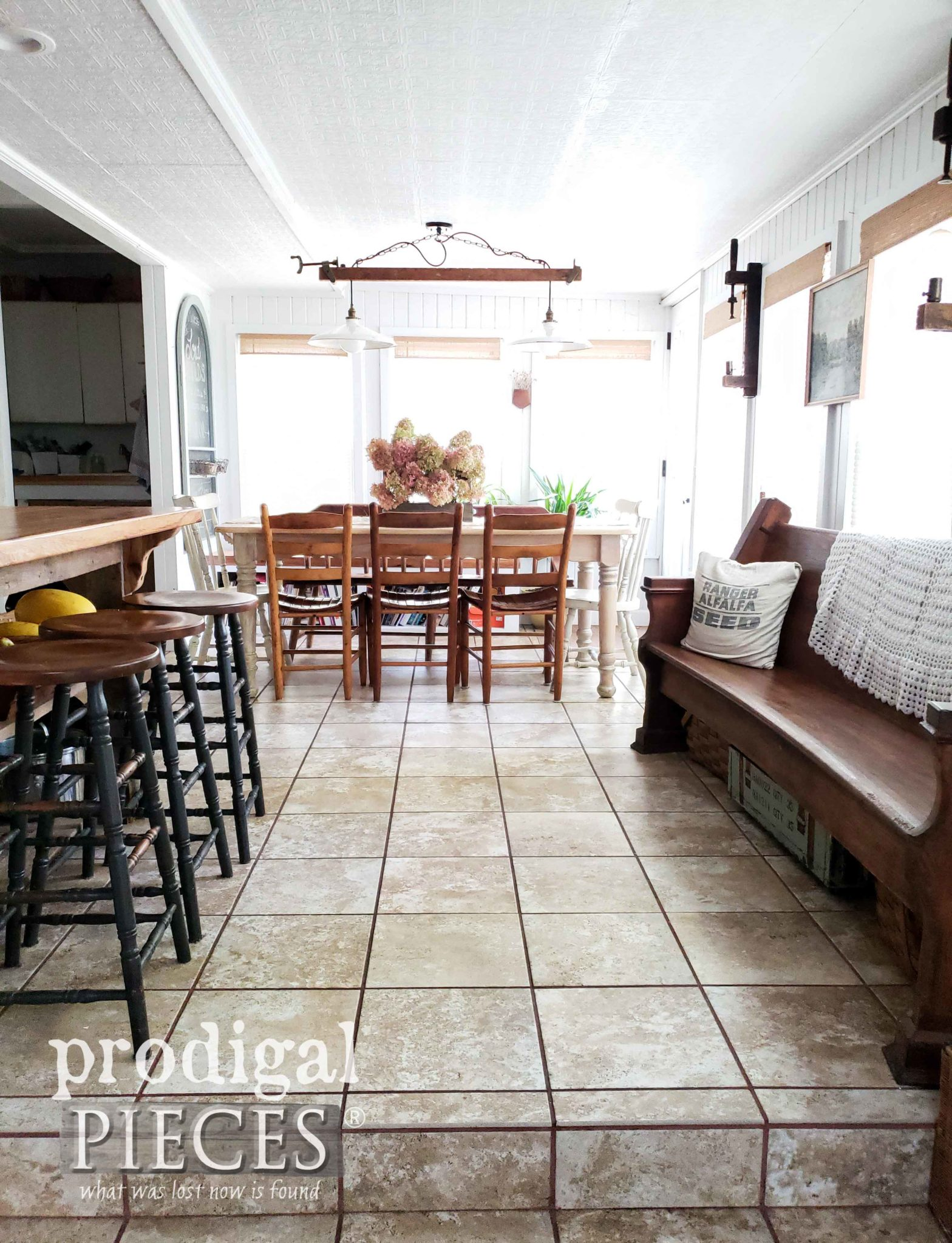 DIY Farmhouse Style Remodeled Kitchen and Dining by Prodigal Pieces | prodigalpieces.com