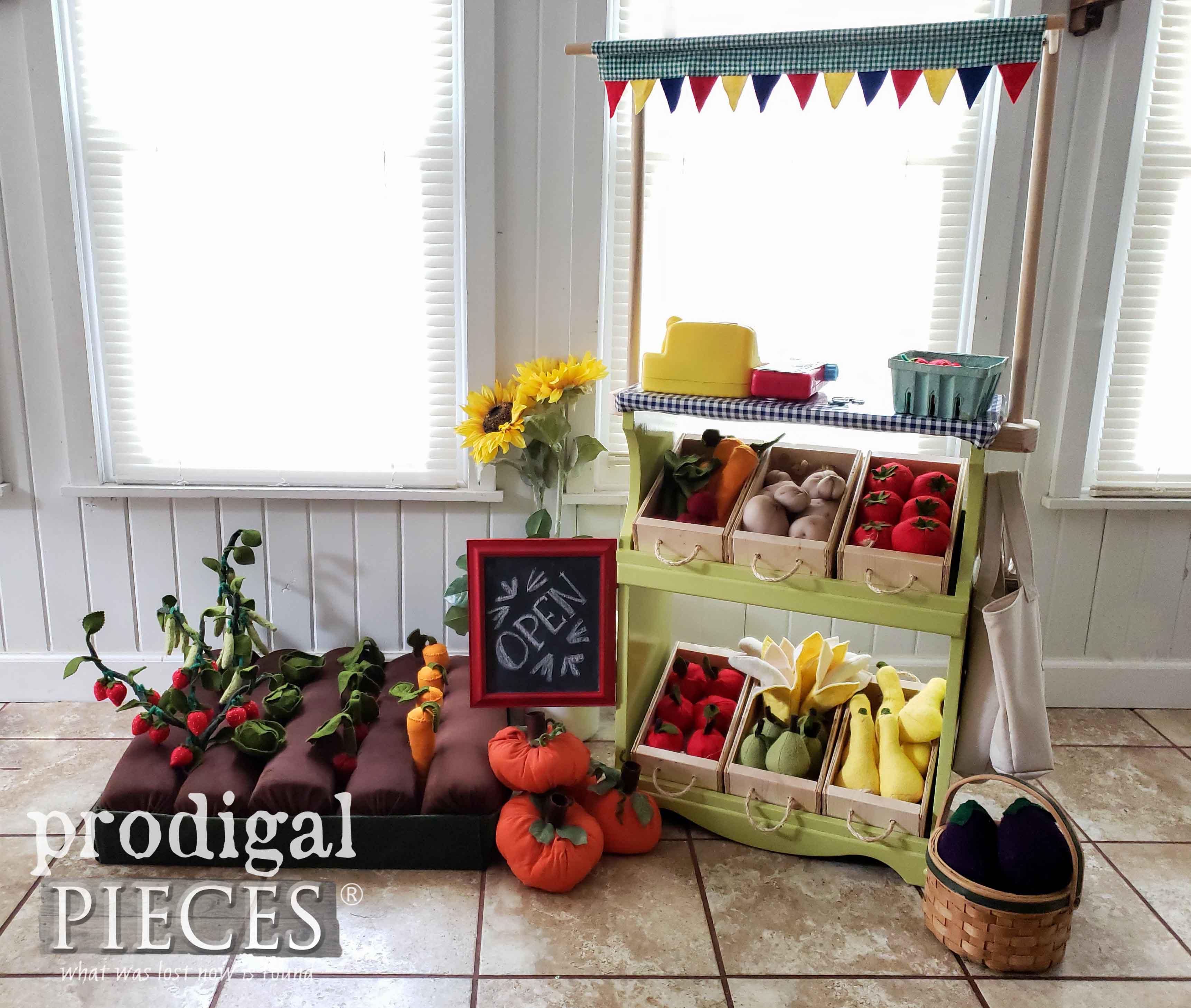 DIY Pretend Farmer's Market for Kids handmade by Larissa of Prodigal Pieces | prodigalpieces.com #prodigalpieces