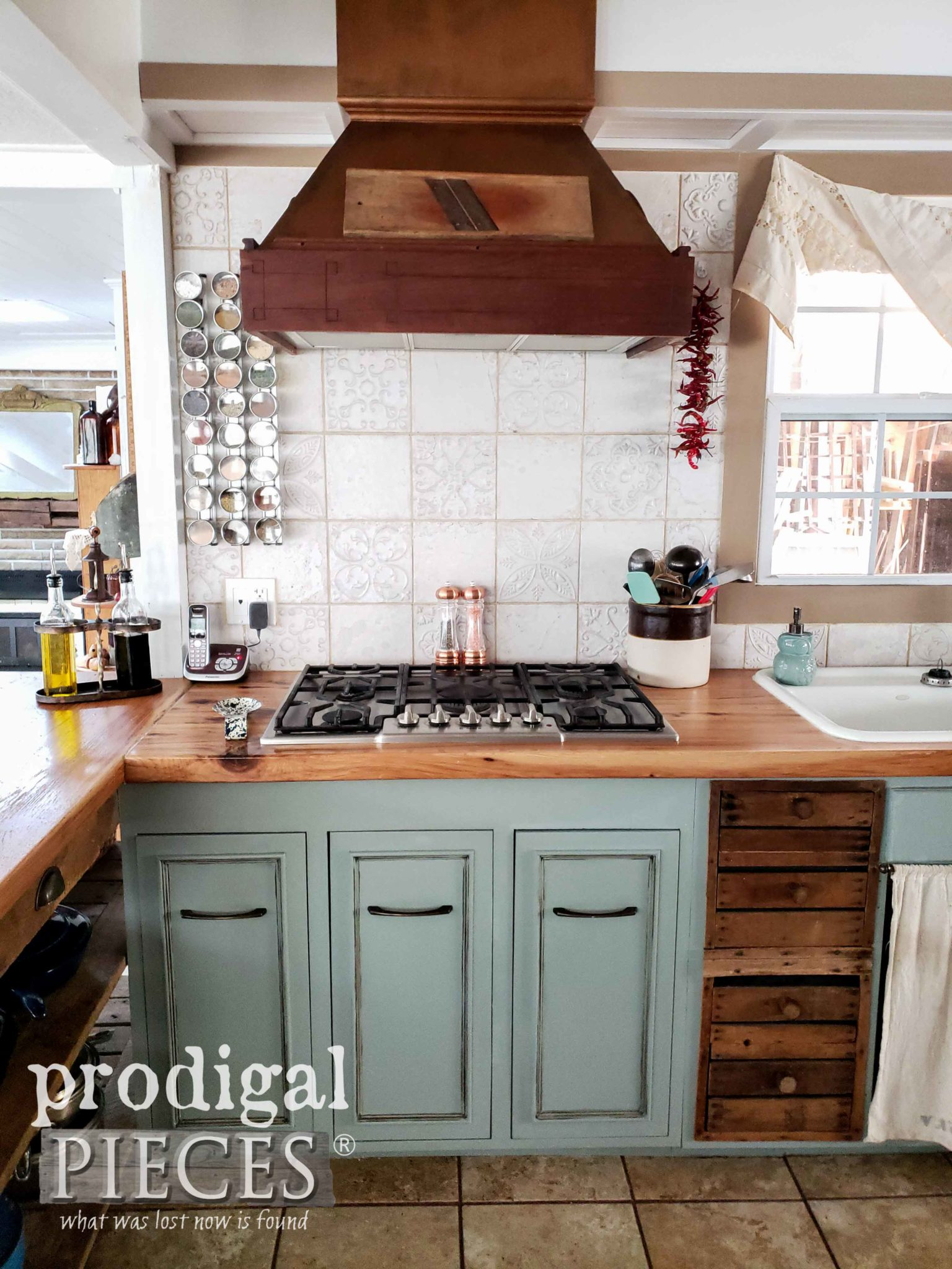Custom Built DIY Farmhouse Kitchen Range Hood in Copper by Prodigal Pieces | prodigalpieces.com